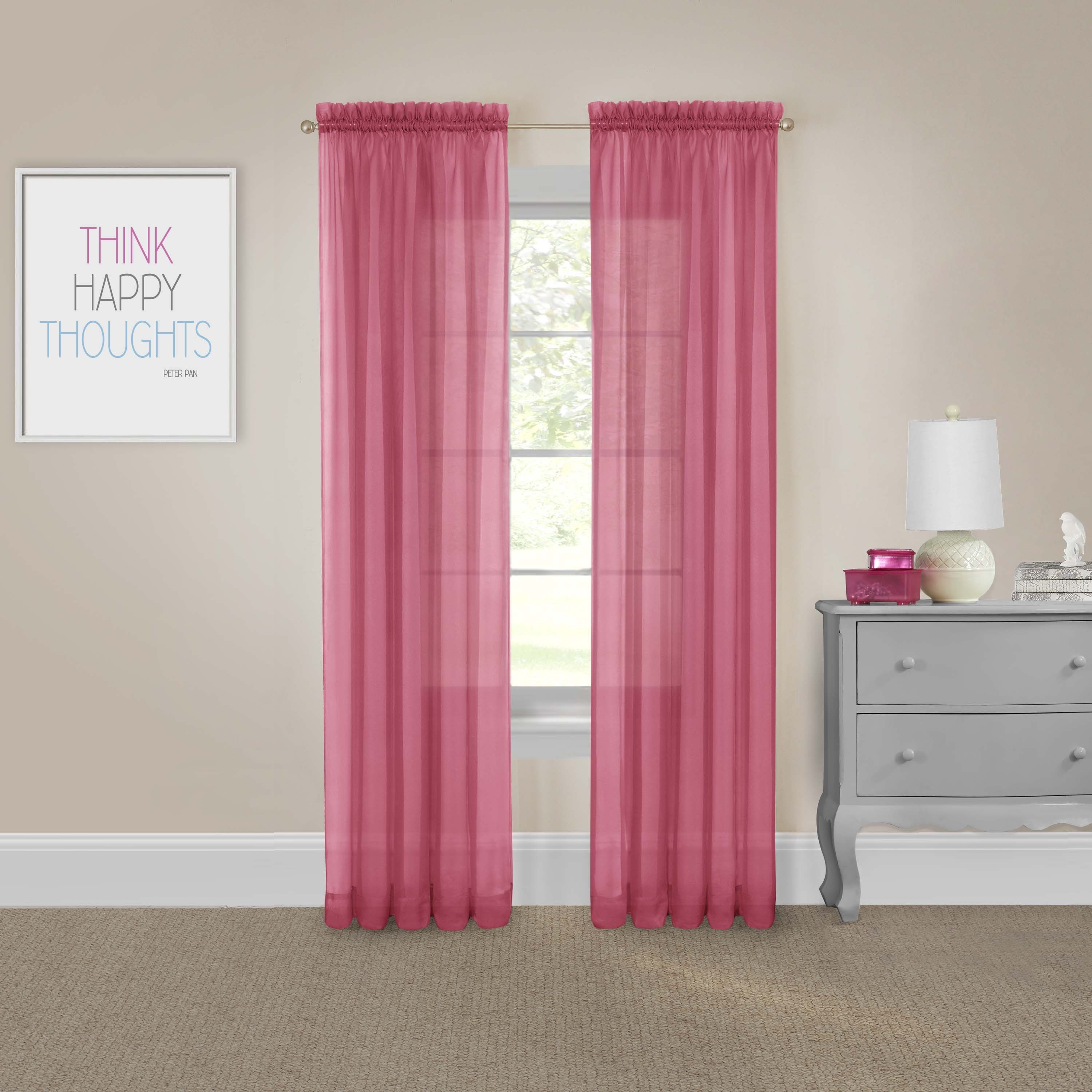 Pairs To Go Victoria Voile Curtain Panel Pair In Luxury Collection Summit Sheer Curtain Panel Pairs (View 19 of 20)