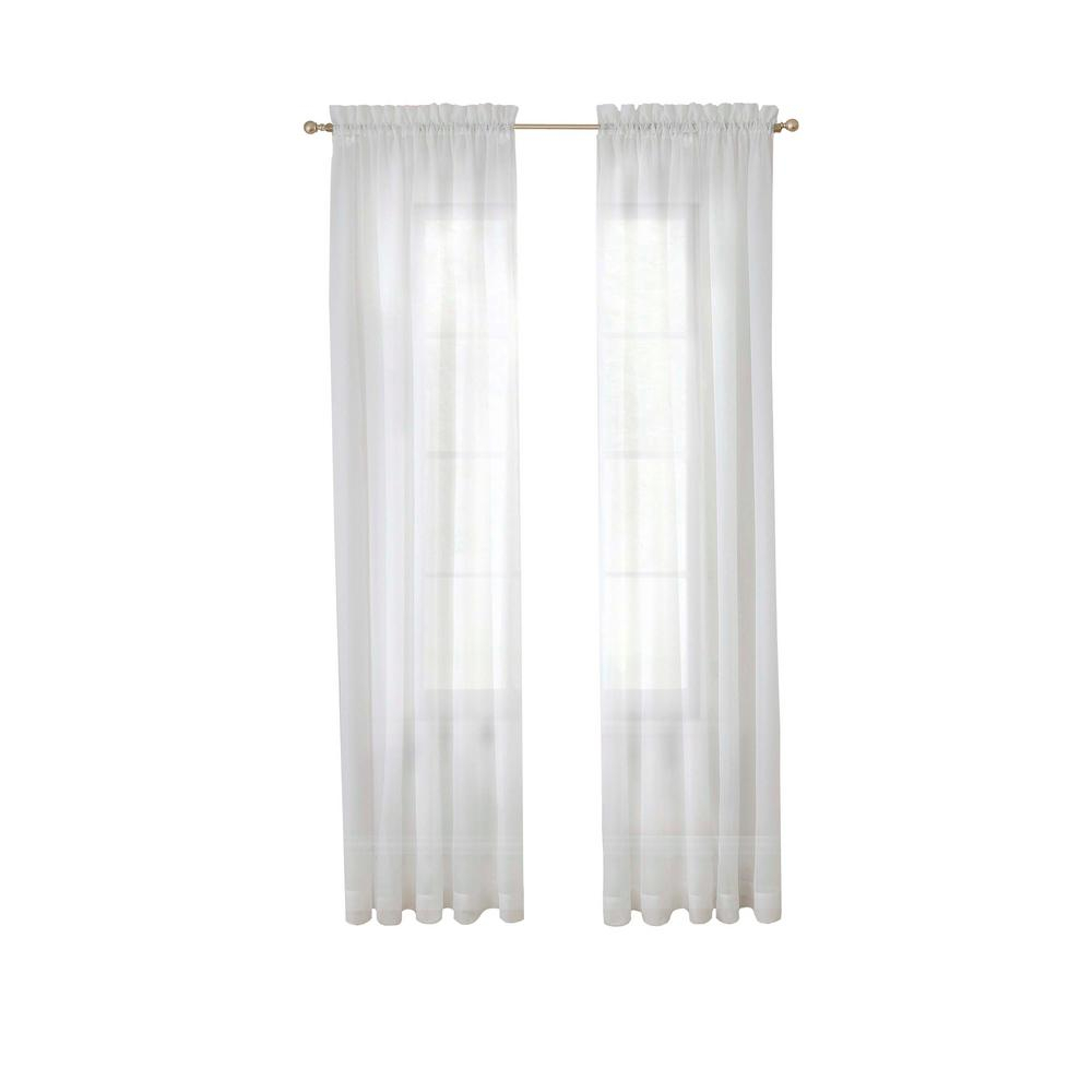 Pairs To Go Victoria Voile Window Curtain Panel Pair In Grey – 118 In. W X 95 In (View 4 of 20)