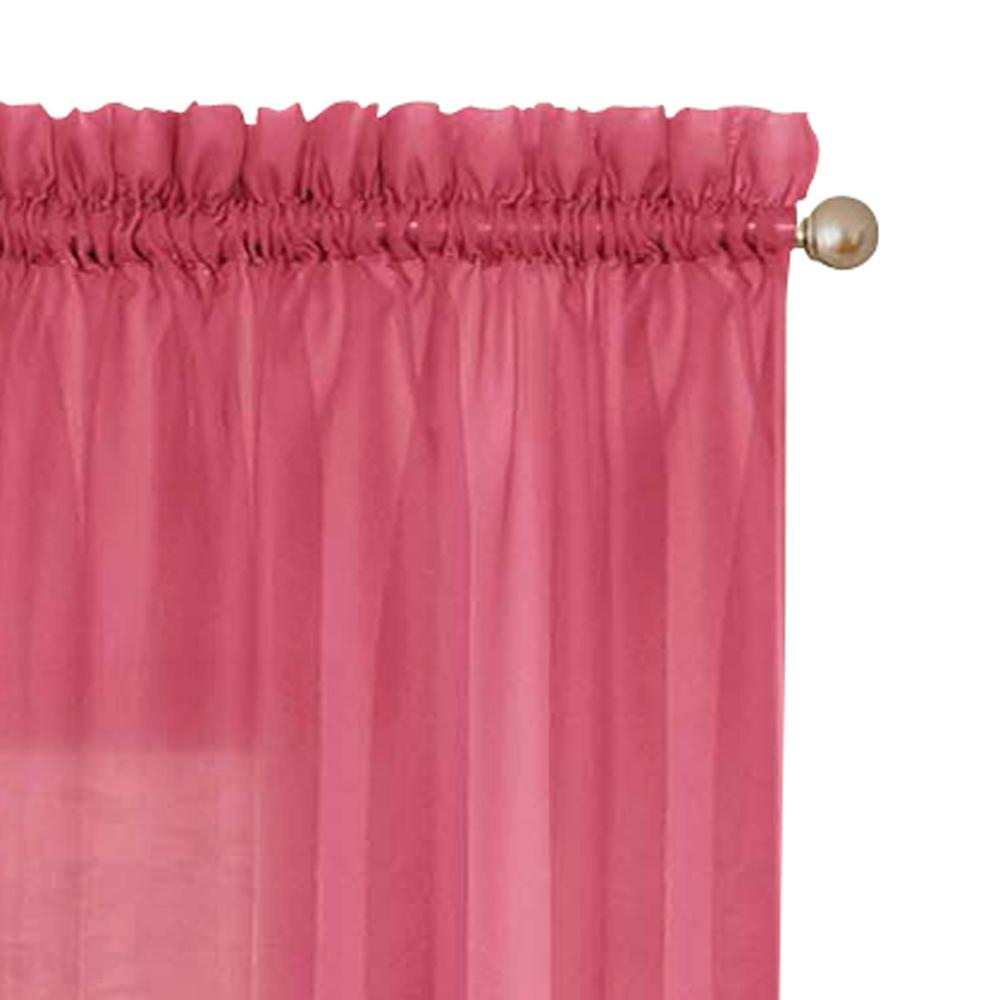 Pairs To Go Victoria Voile Window Curtain Panel Pair In Pink – 118 In. W X 63 In (View 8 of 20)