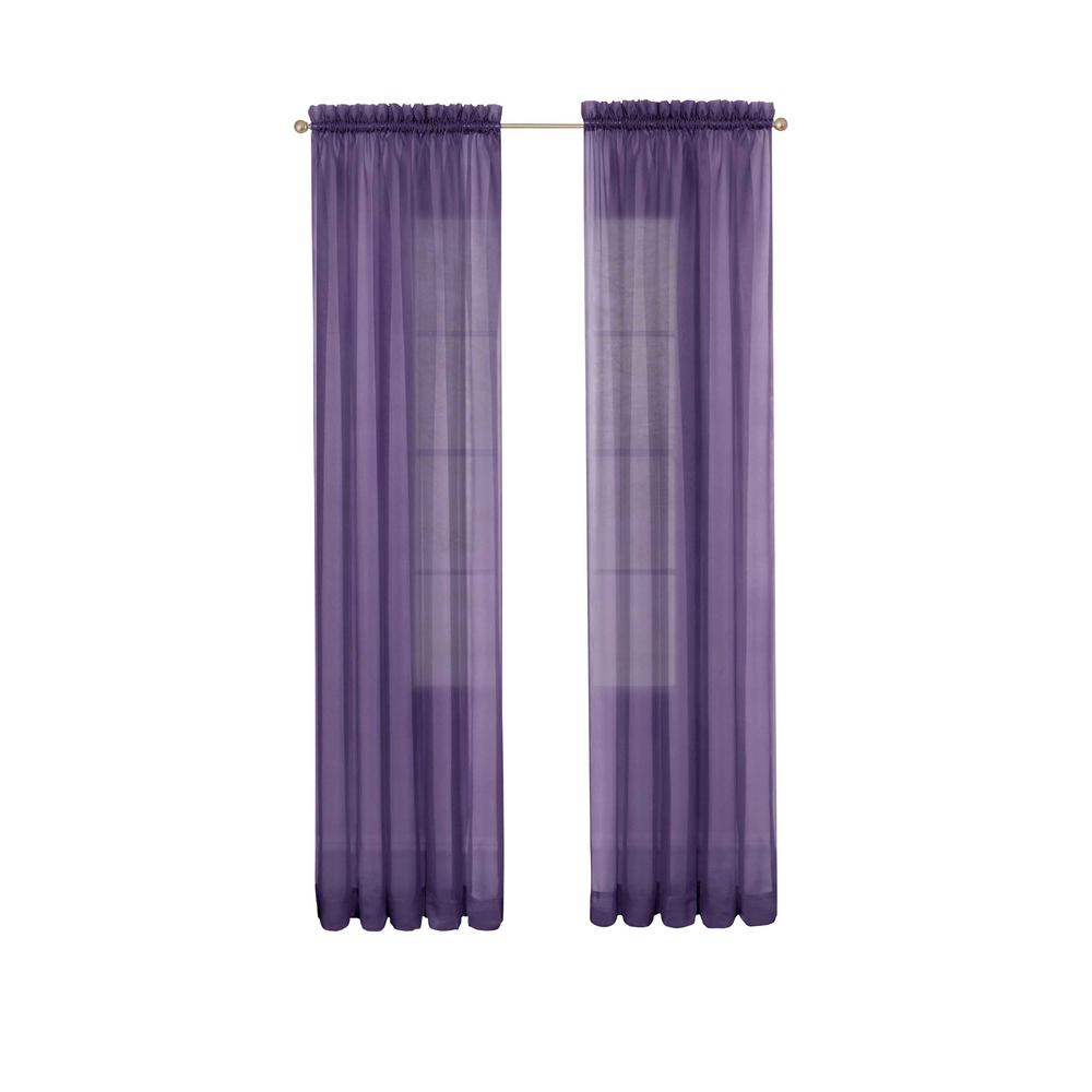 Pairs To Go Victoria Voile Window Curtain Panel Pair In Purple – 118 In. W X 84 In (View 7 of 20)