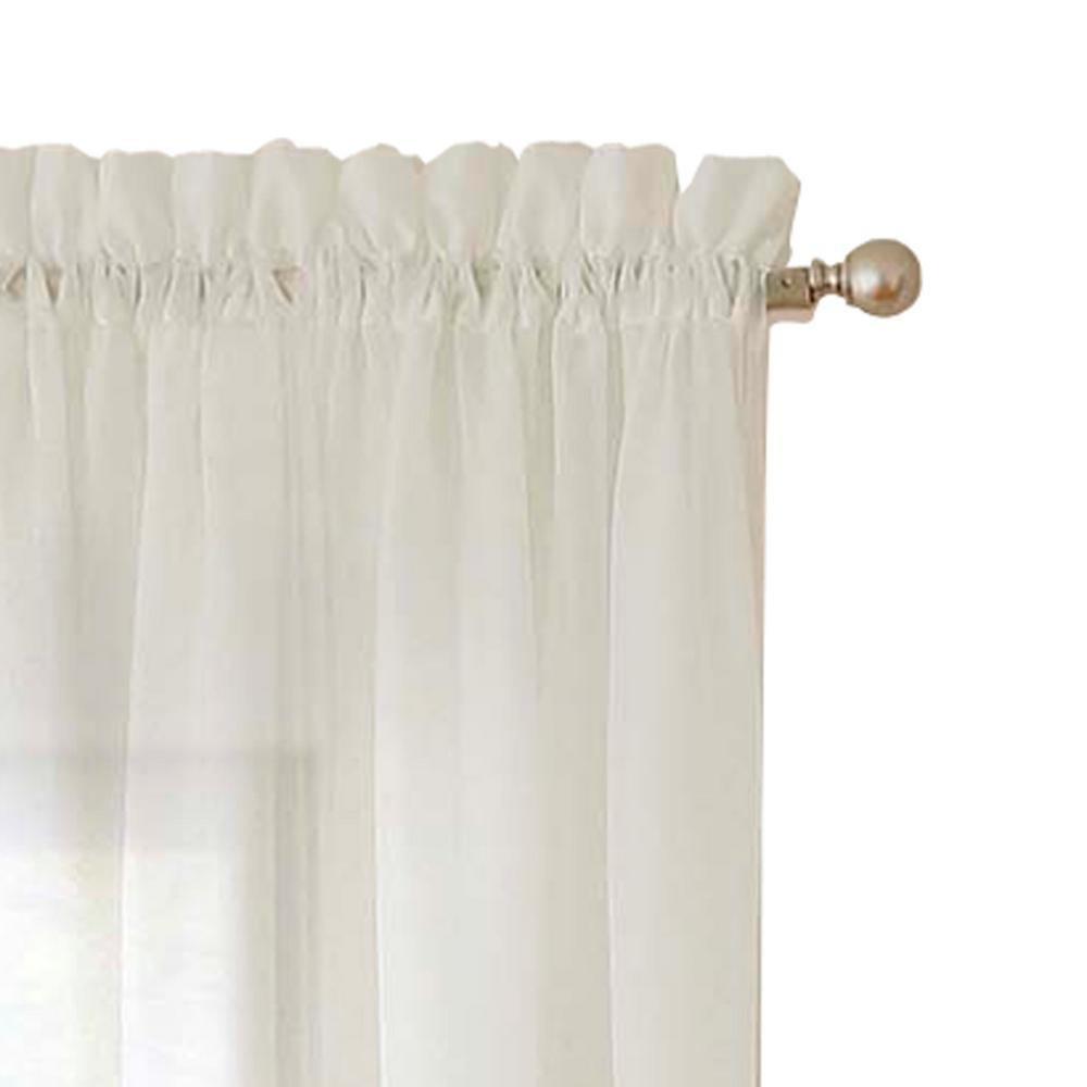 Pairs To Go Victoria Voile Window Curtain Panel Pair In Taupe – 118 In. W X 63 In (View 6 of 20)