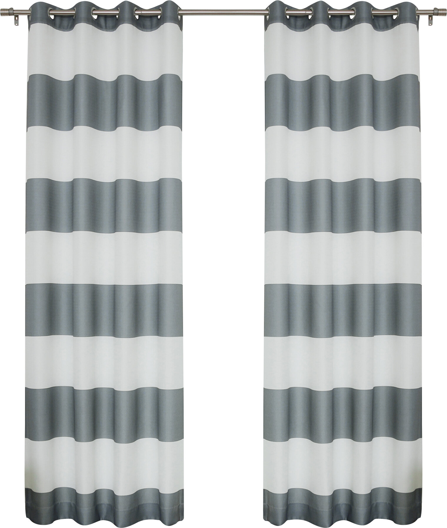 Paityn Rugby Curtain Panels With Regard To Inez Patio Door Window Curtain Panels (View 10 of 20)