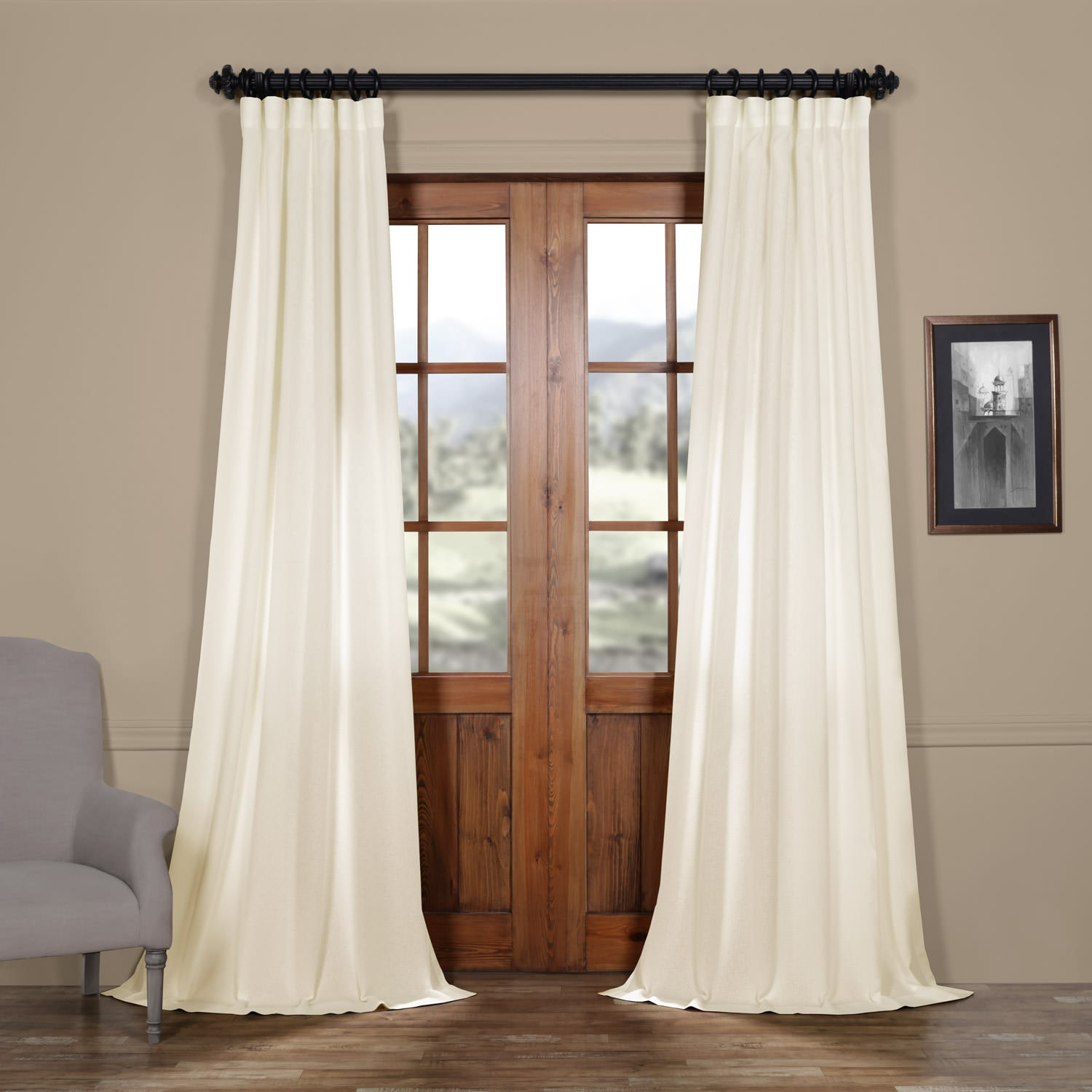Pale Bloom Faux Linen Sheer Curtain – 1fb9 Quality Product Sales Within Montpellier Striped Linen Sheer Curtains (View 17 of 20)