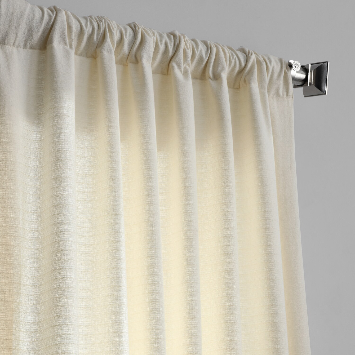 Pale Ivory Bark Weave Solid Cotton Curtain With Regard To Bark Weave Solid Cotton Curtains (View 14 of 20)