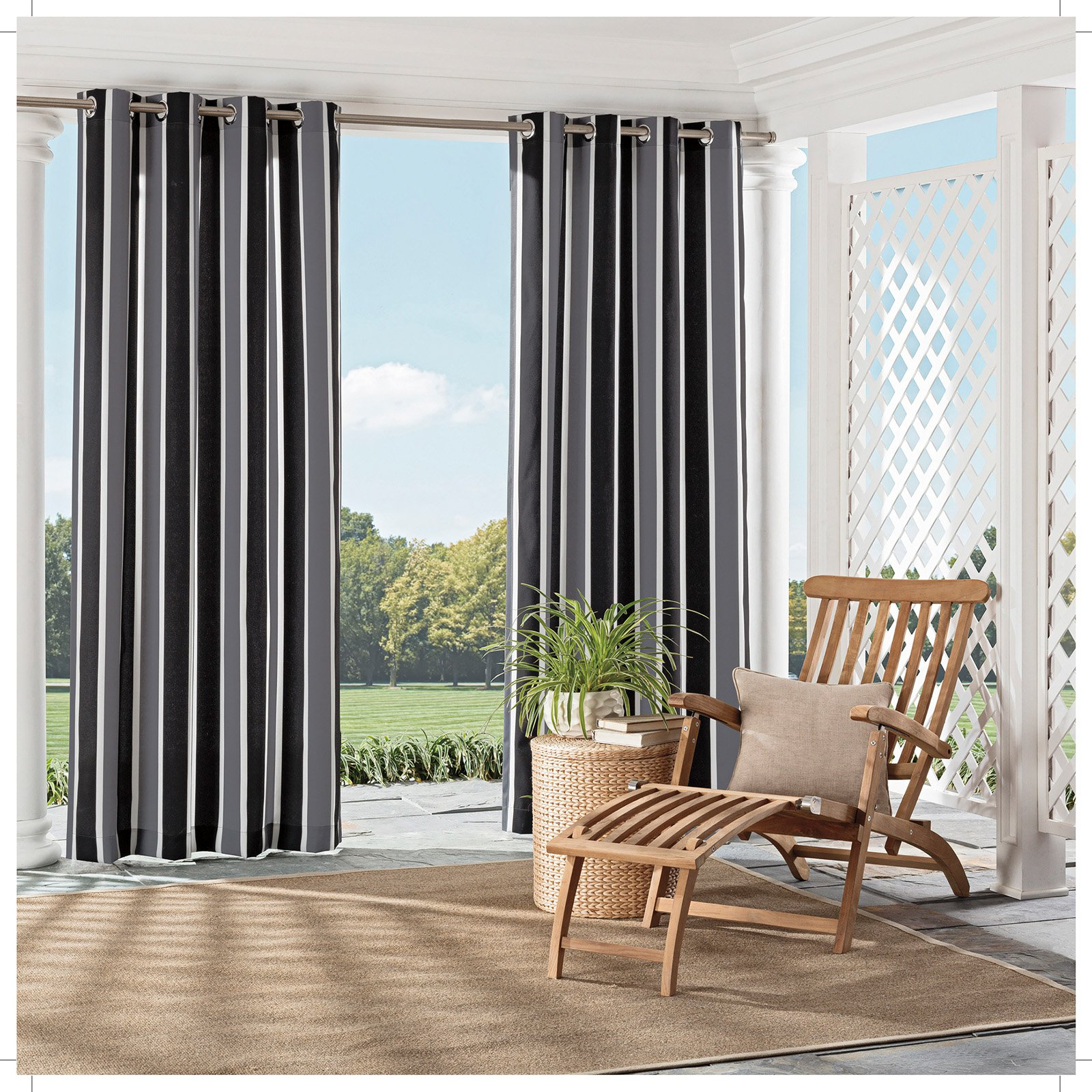Parasol Coco Bay Indoor/outdoor Curtains In 2019   Products Inside Valencia Cabana Stripe Indoor/outdoor Curtain Panels (View 13 of 30)