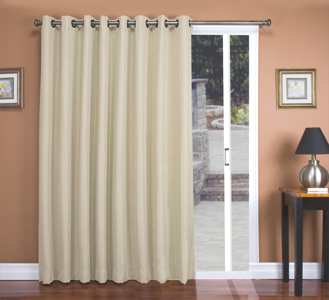 Patio Door Curtains – Thecurtainshop Throughout Patio Grommet Top Single Curtain Panels (View 20 of 20)