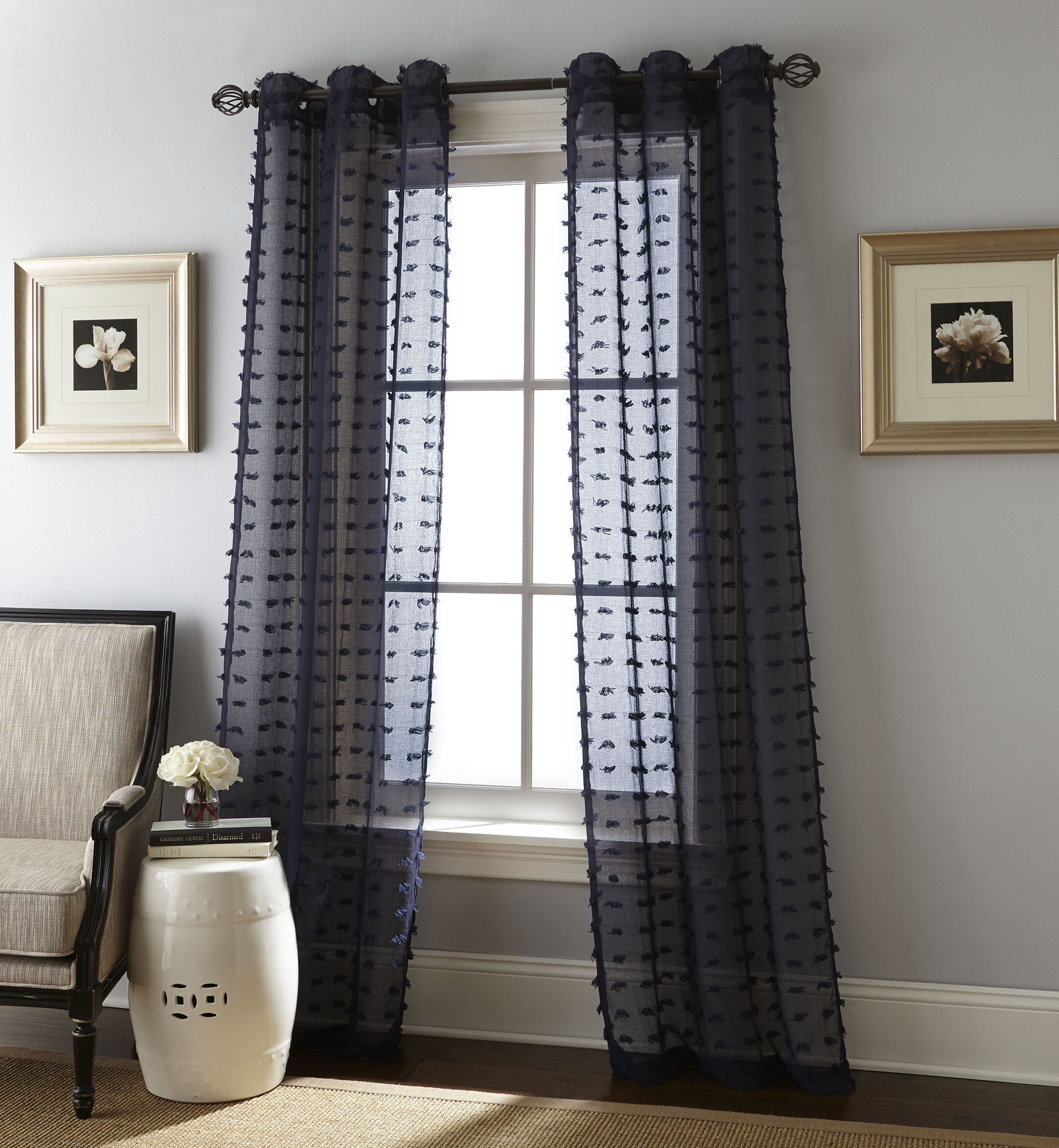 Payton Solid Color Semi Sheer Grommet Curtain Panels For Solid Grommet Top Curtain Panel Pairs (View 15 of 30)
