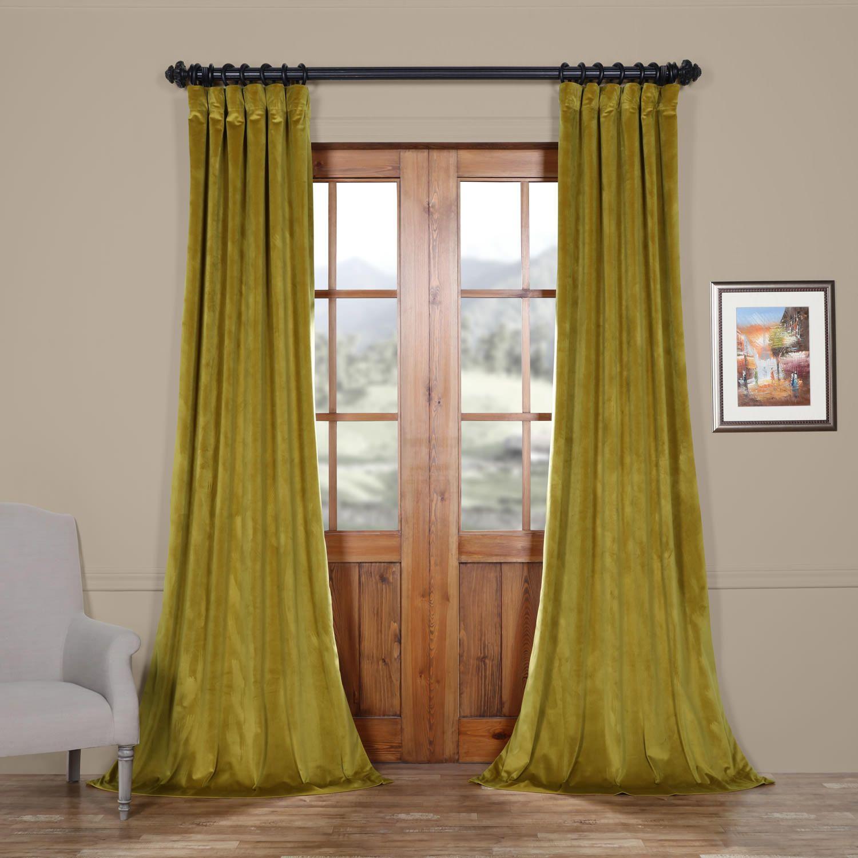 Featured Photo of Heritage Plush Velvet Curtains
