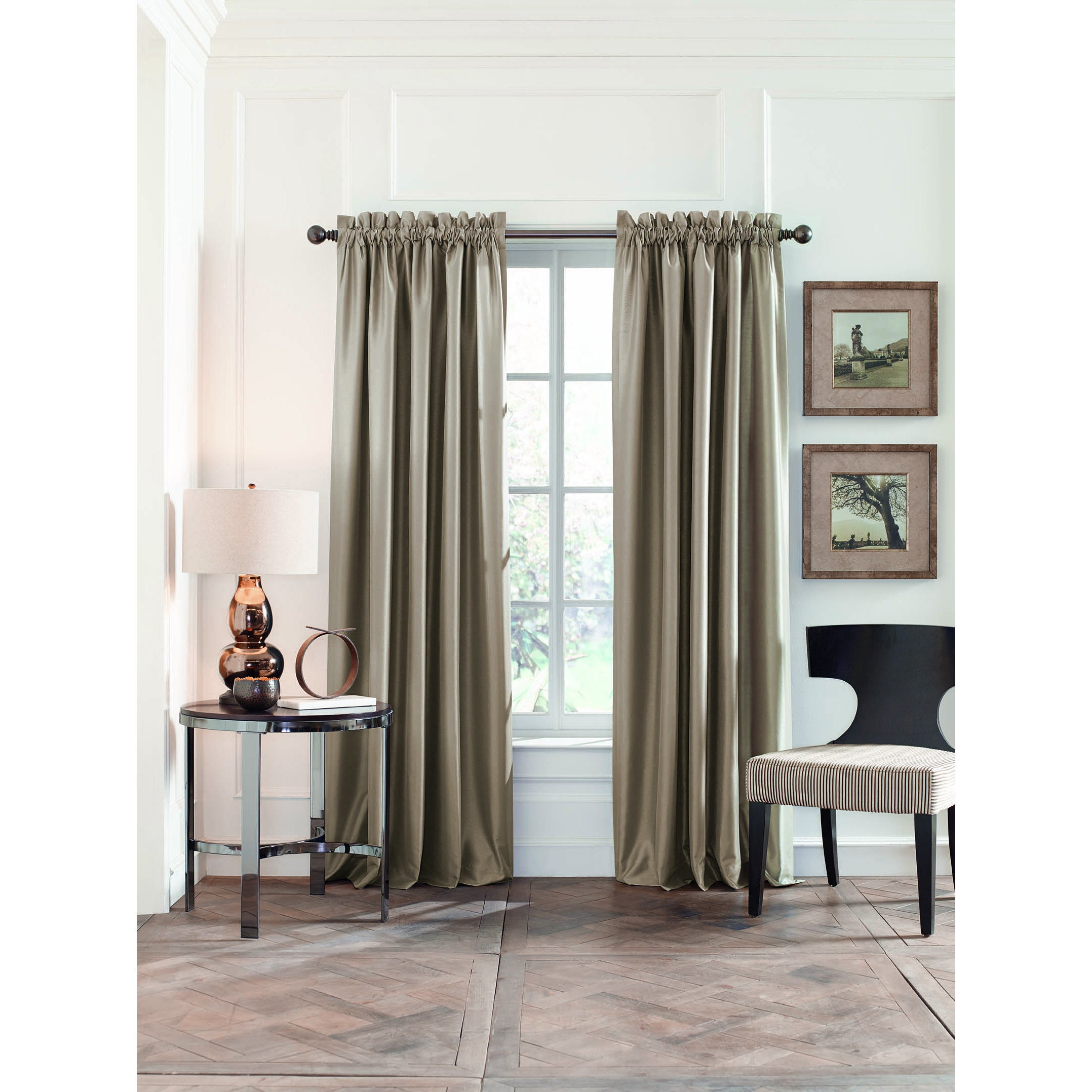 Perry Ellis Faux Silk Blackout Curtain Panel Pair Regarding Overseas Faux Silk Blackout Curtain Panel Pairs (View 10 of 20)