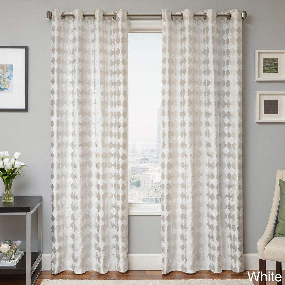 Peyton Woven Jacquard Grommet Top Curtain Panel – Free With Regard To Softline Trenton Grommet Top Curtain Panels (View 11 of 30)