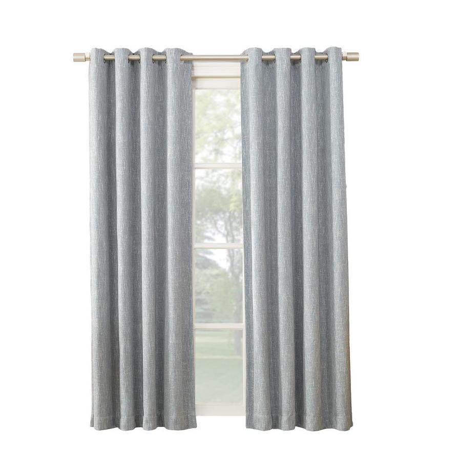 Pierston 84 In Dusty Blue Polyester Blackout Thermal Lined Single Curtain Panel Regarding Keyes Blackout Single Curtain Panels (View 6 of 20)