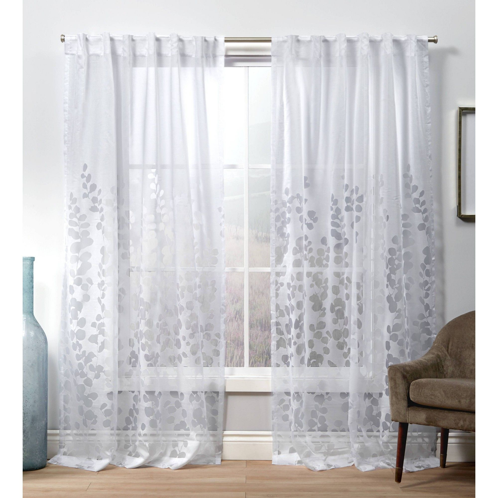 Pin On Products Throughout Laya Fretwork Burnout Sheer Curtain Panels (View 12 of 20)