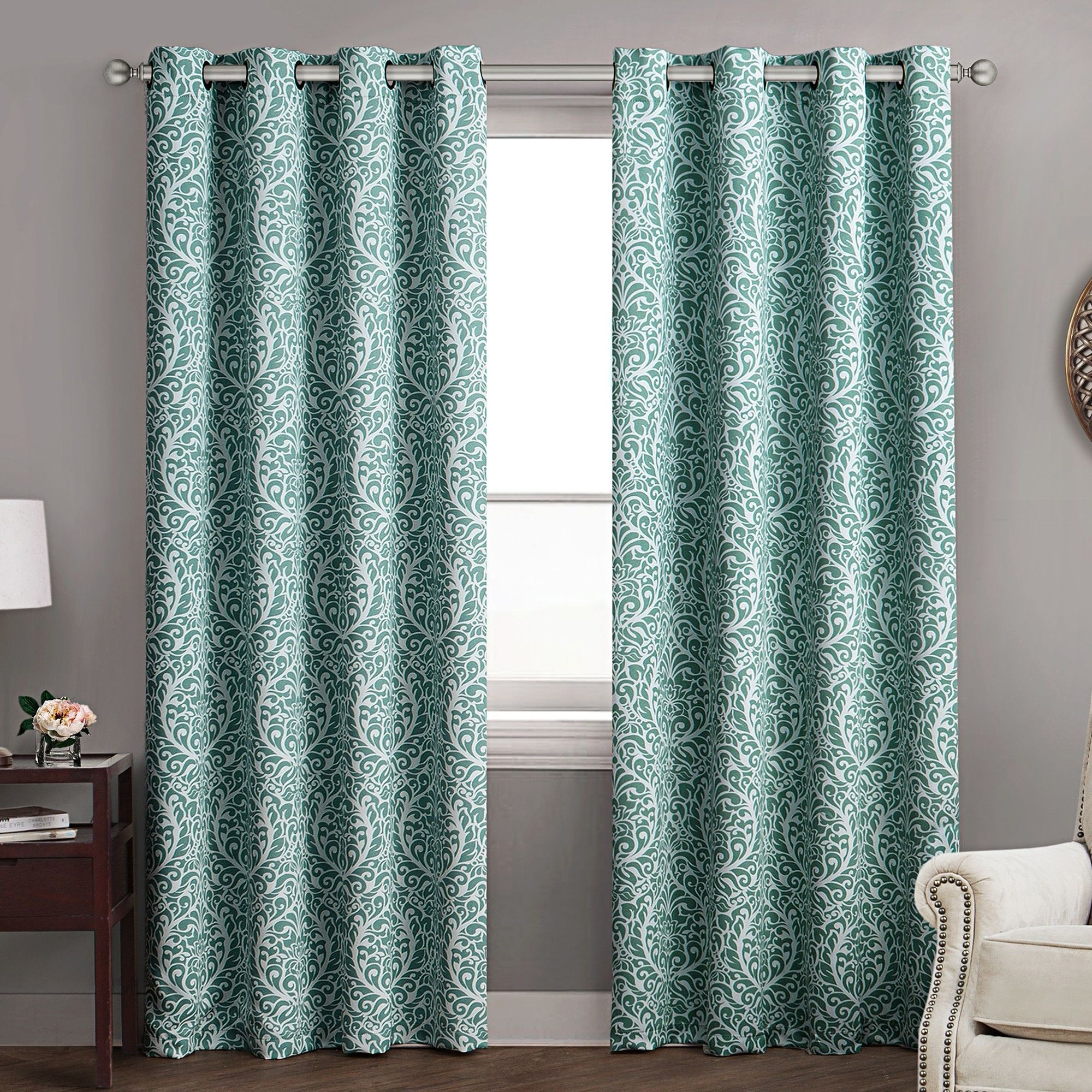Pinckney Blackout Curtain Panels   Curtion   Curtains, Panel In Sunsmart Dahlia Paisley Printed Total Blackout Single Window Curtain Panels (View 16 of 30)
