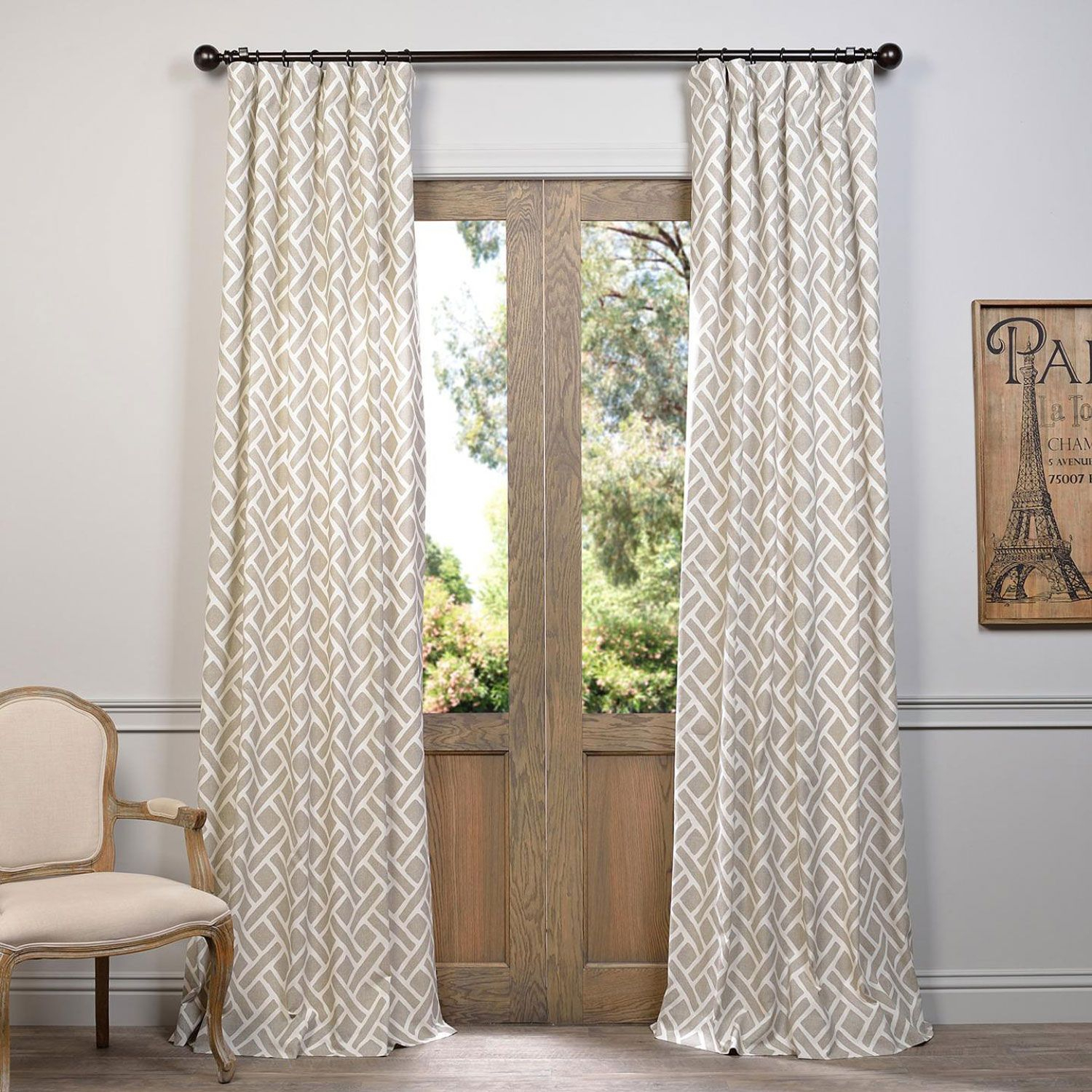 Pinterest – Пинтерест In Sarong Grey Printed Cotton Pole Pocket Single Curtain Panels (View 14 of 20)