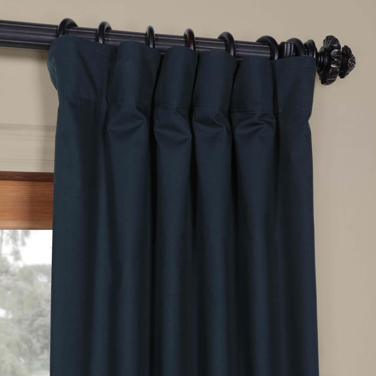 Polo Navy Solid Cotton Blackout Curtain | Дом In 2019 With Regard To Solid Cotton True Blackout Curtain Panels (View 19 of 30)