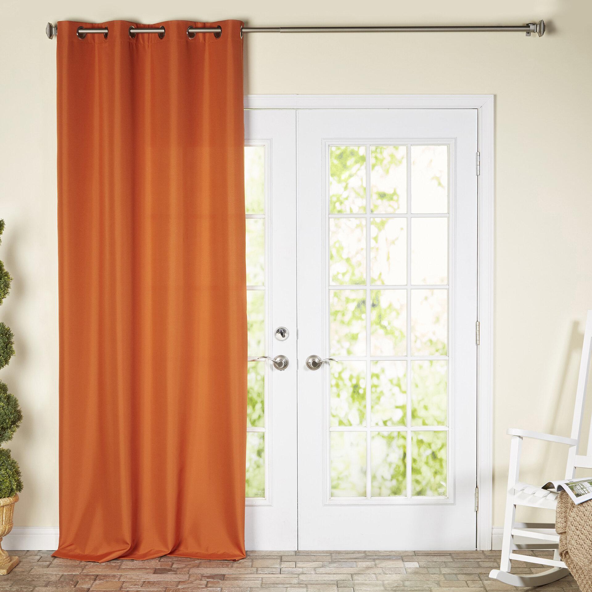 Ponce De Leon Solid Color Room Darkening Outdoor Grommet Single Curtain Panel Regarding Kaylee Solid Crushed Sheer Window Curtain Pairs (View 11 of 20)