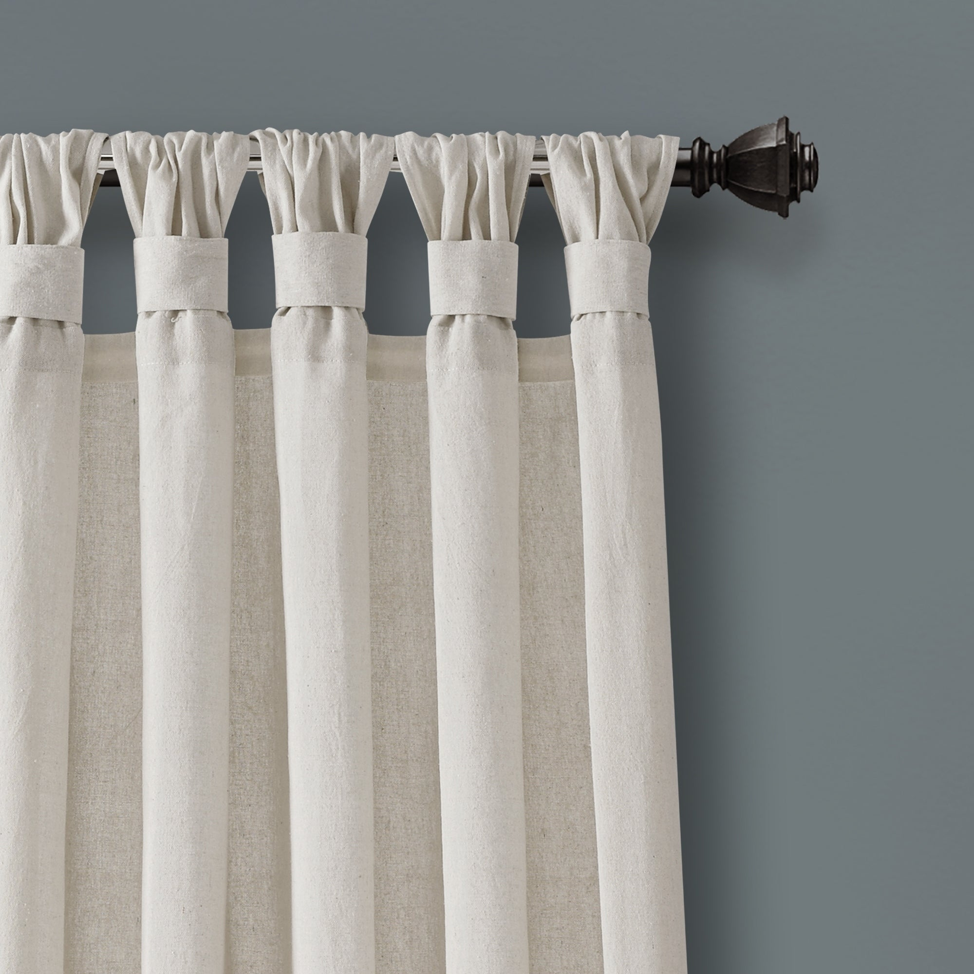 Featured Photo of Knotted Tab Top Window Curtain Panel Pairs