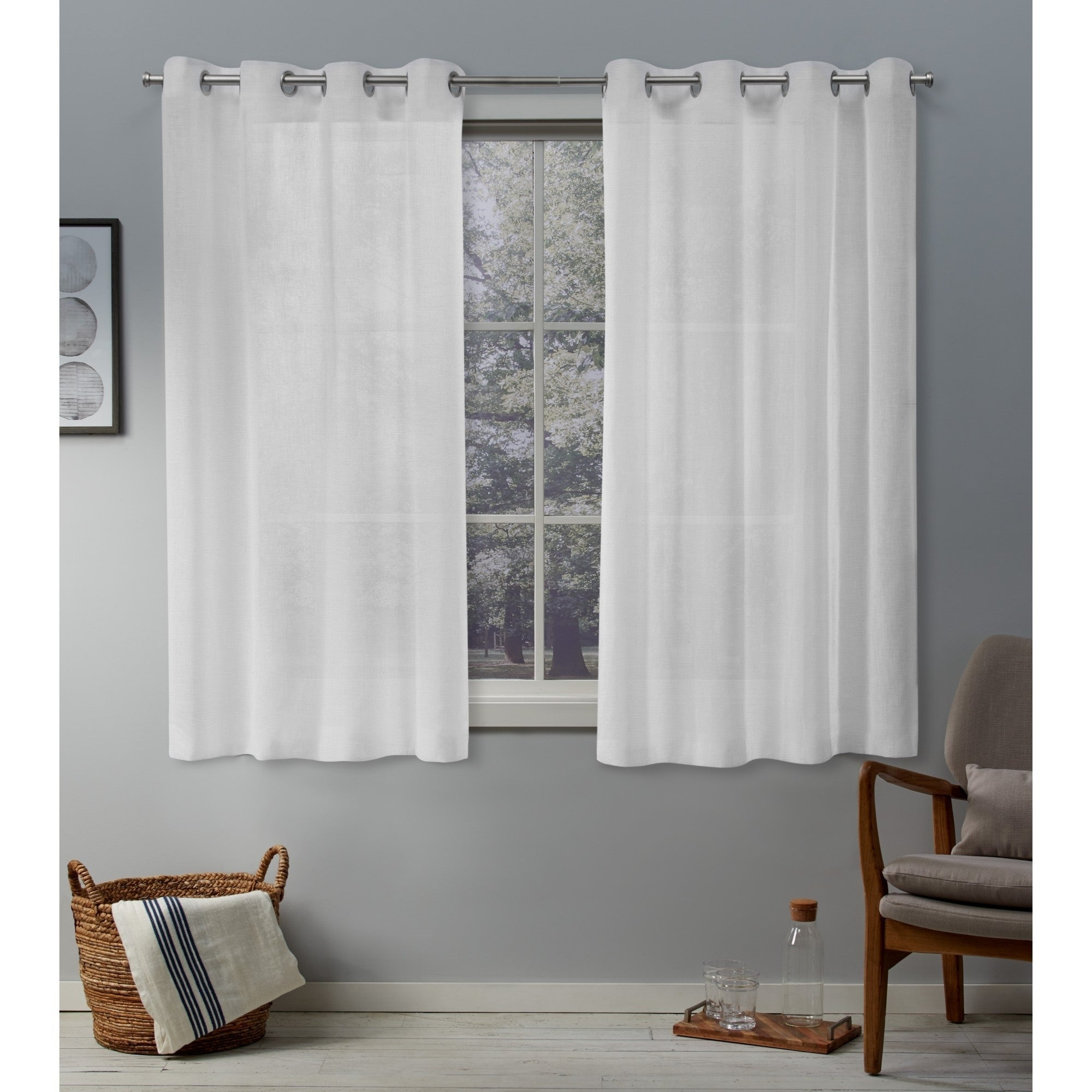 Porch & Den Anfield Sheer Grommet Top Curtain Panel Pair Intended For Penny Sheer Grommet Top Curtain Panel Pairs (View 18 of 20)