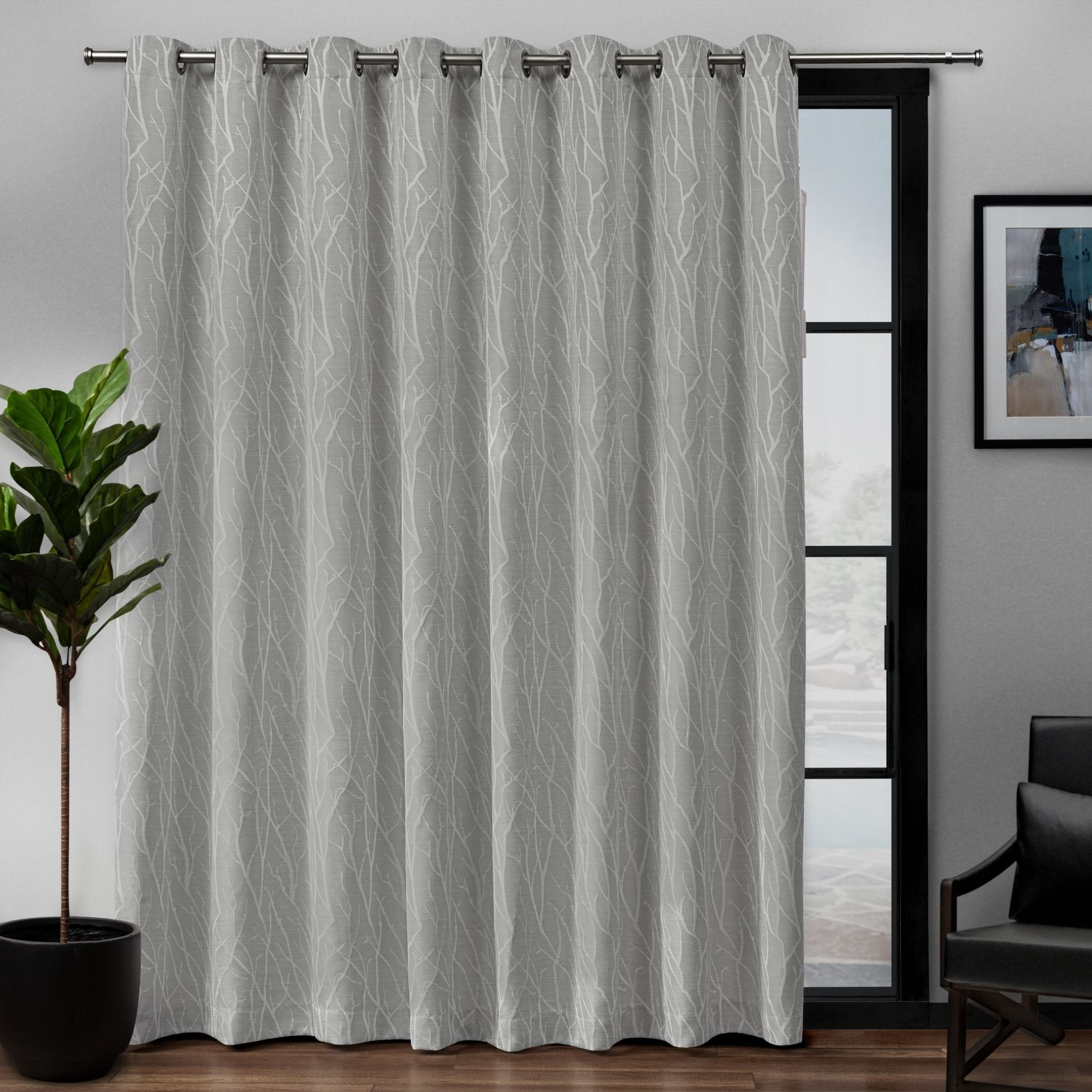 Porch & Den Davis Patio Grommet Top 84 Inch X 108 Inch Single Curtain Panel With Davis Patio Grommet Top Single Curtain Panels (View 1 of 20)