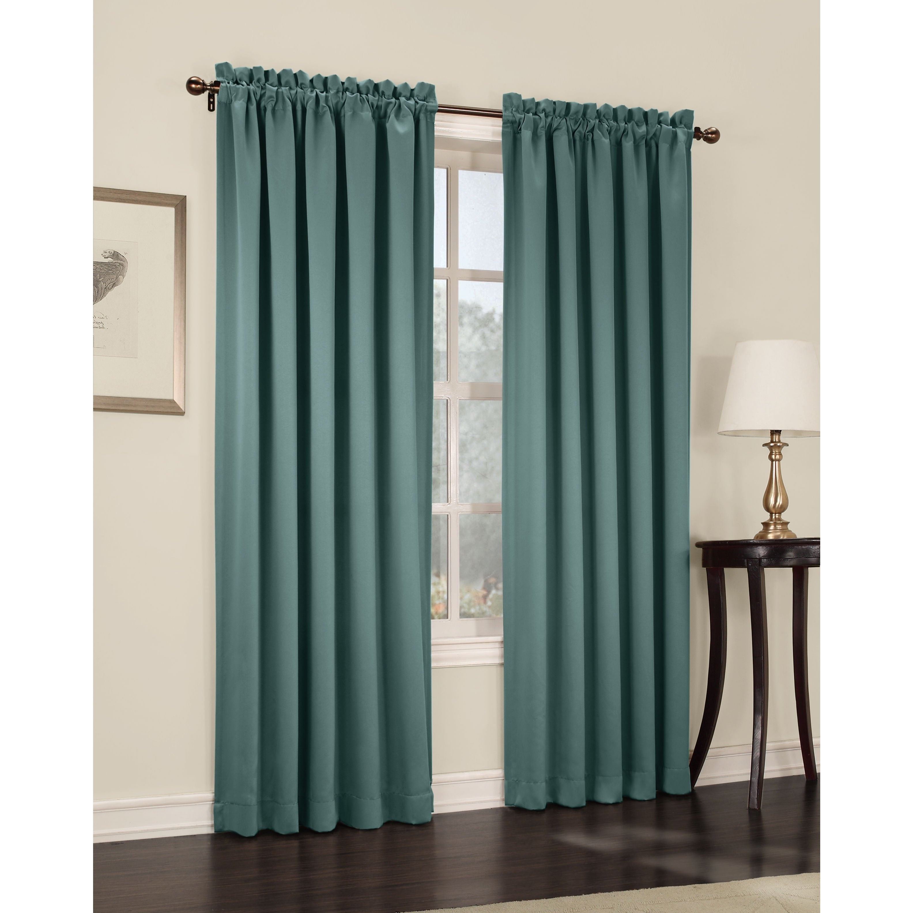 Porch & Den Inez Rod Pocket Room Darkening Window Curtain Panel With Nantahala Rod Pocket Room Darkening Patio Door Single Curtain Panels (View 19 of 20)