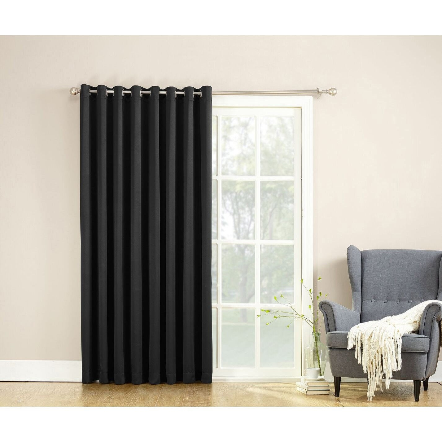 Porch & Den Nantahala Rod Pocket Room Darkening Patio Door Single Curtain Panel For Nantahala Rod Pocket Room Darkening Patio Door Single Curtain Panels (View 3 of 20)
