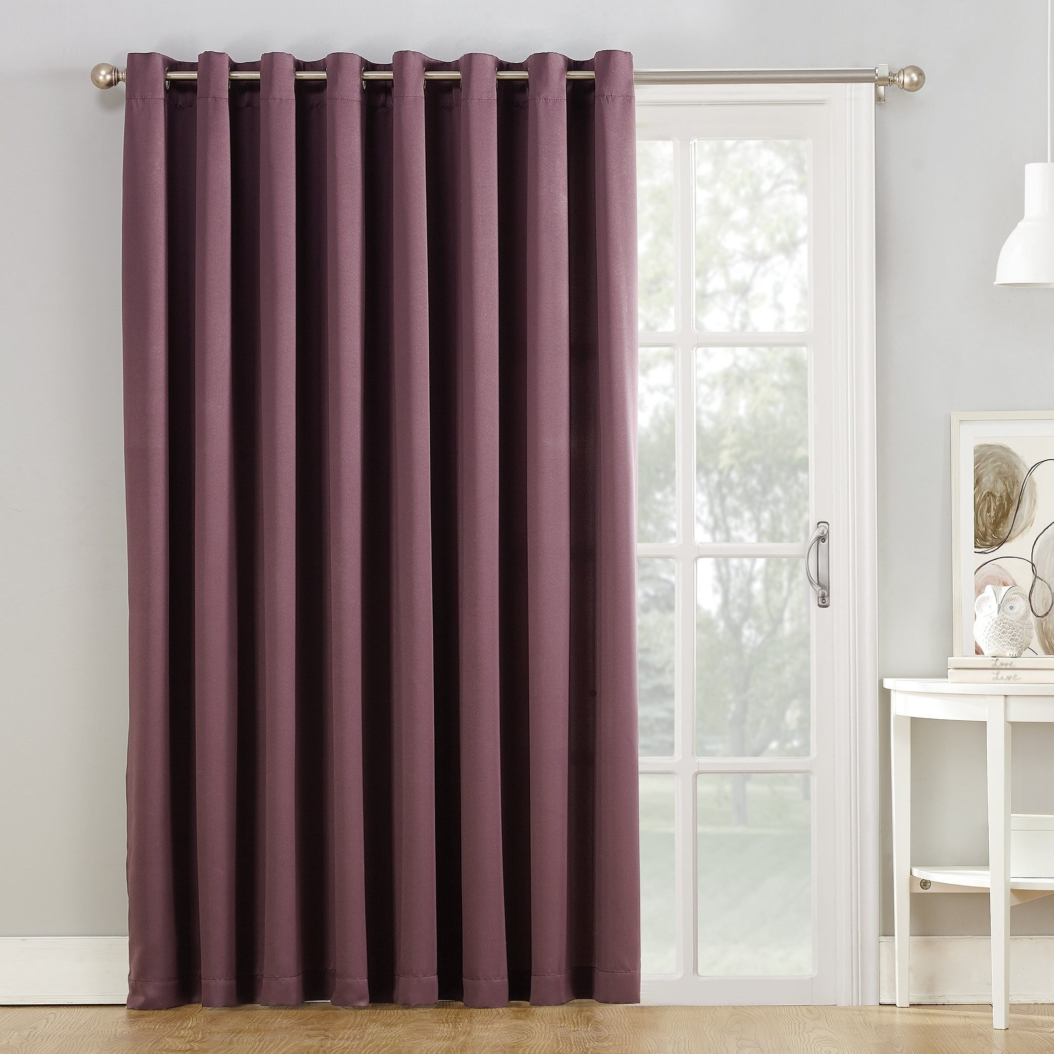 Porch & Den Nantahala Rod Pocket Room Darkening Patio Door Single Curtain Panel With Nantahala Rod Pocket Room Darkening Patio Door Single Curtain Panels (View 4 of 20)