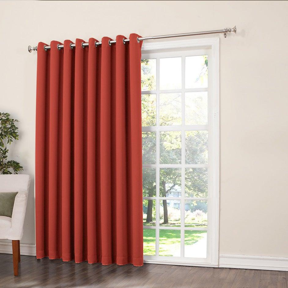 Porch & Den Nantahala Rod Pocket Room Darkening Patio Door Single Curtain Panel Within Grommet Blackout Patio Door Window Curtain Panels (View 4 of 20)
