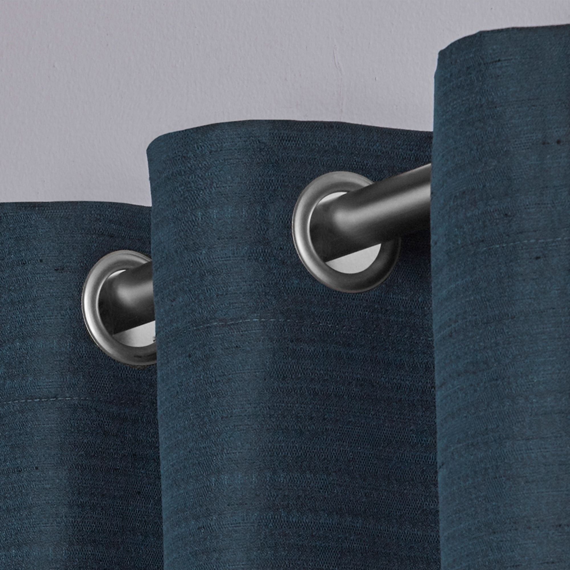 Porch & Den Patchen Raw Silk Thermal Insulated Grommet Top Curtain Panel Pair For Raw Silk Thermal Insulated Grommet Top Curtain Panel Pairs (View 17 of 20)