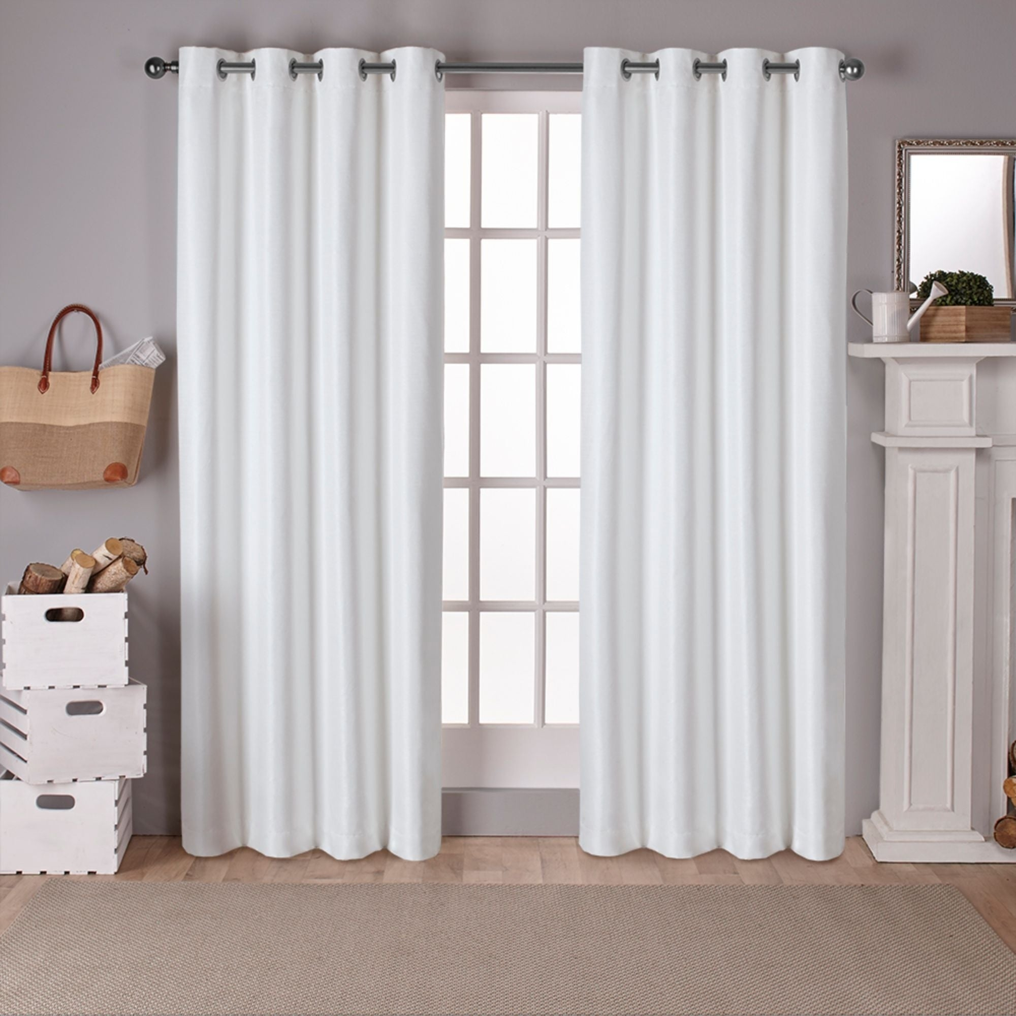 Porch & Den Patchen Raw Silk Thermal Insulated Grommet Top Curtain Panel Pair In Raw Silk Thermal Insulated Grommet Top Curtain Panel Pairs (View 6 of 20)
