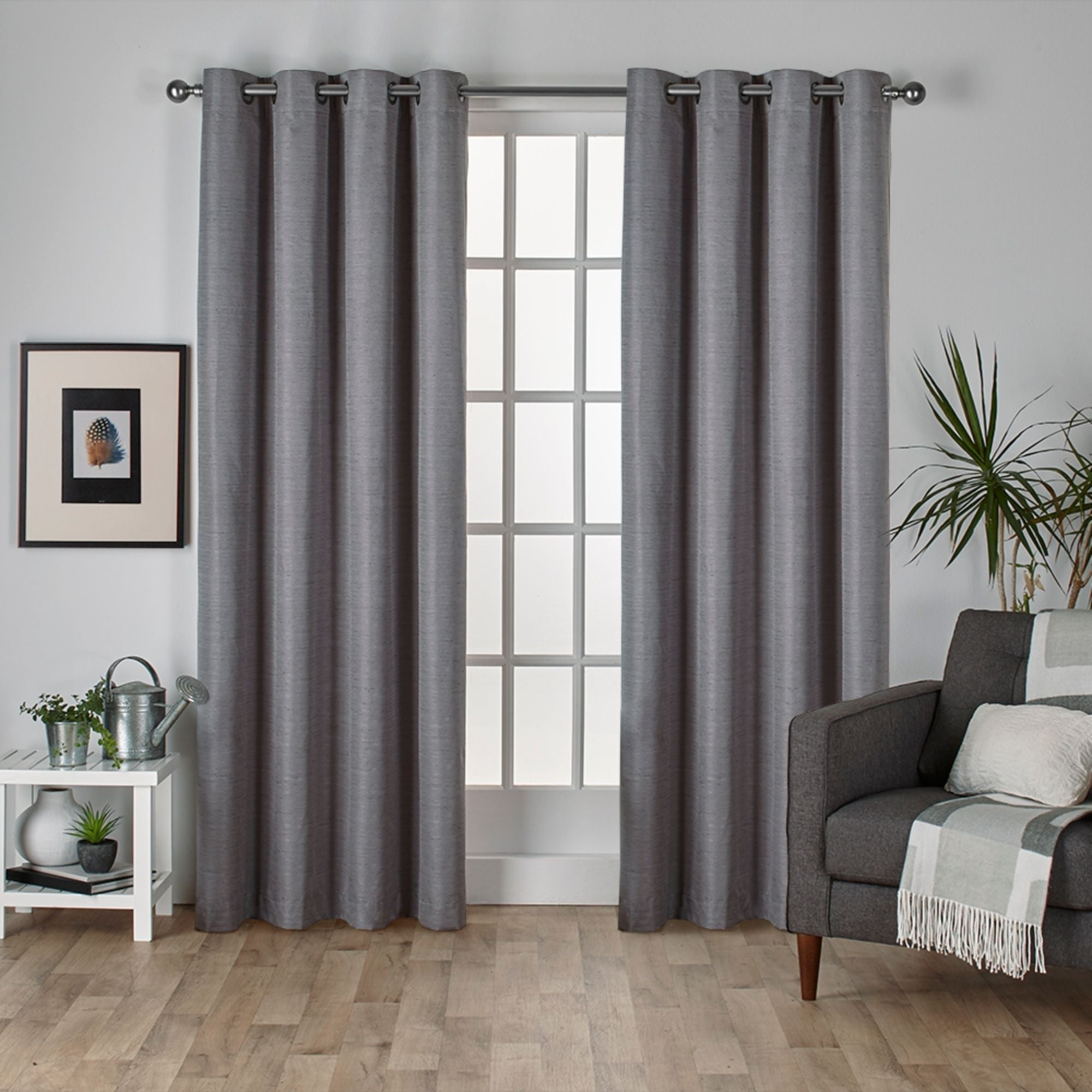 Porch & Den Patchen Raw Silk Thermal Insulated Grommet Top Curtain Panel Pair Regarding Thermal Textured Linen Grommet Top Curtain Panel Pairs (View 2 of 30)