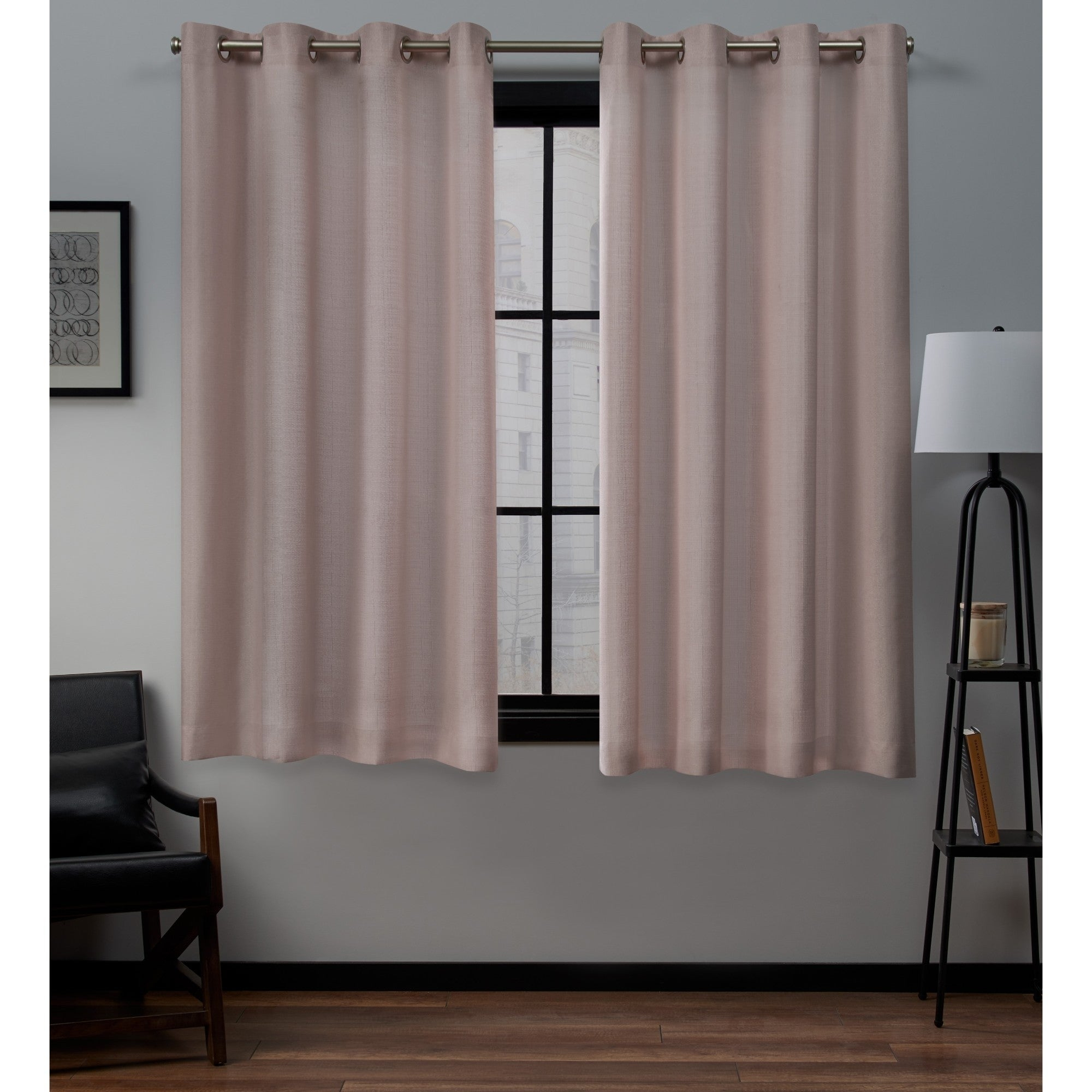 Porch & Den Sugar Creek Grommet Top Loha Linen Window Curtain Panel Pair In Winter White (52x63)(as Is Item) | Overstock Shopping – The Best Deals Intended For Sugar Creek Grommet Top Loha Linen Window Curtain Panel Pairs (View 7 of 30)