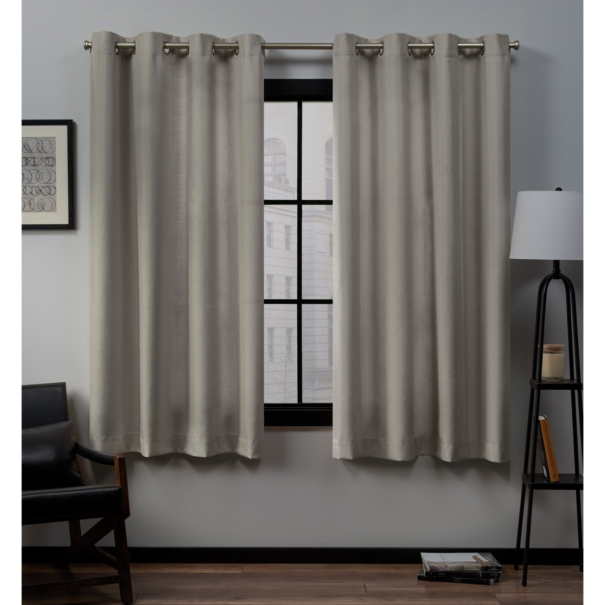 Porch & Den Sugar Creek Grommet Top Loha Linen Window Curtain Panel Pair In Winter White (52x63)(as Is Item) | Overstock Shopping – The Best Deals Throughout Sugar Creek Grommet Top Loha Linen Window Curtain Panel Pairs (View 3 of 30)
