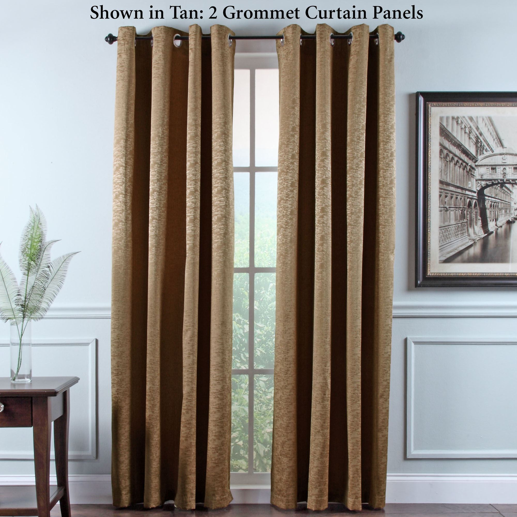 Portland Room Darkening Insulated Grommet Curtain Panels within Grommet Room Darkening Curtain Panels (Image 13 of 20)