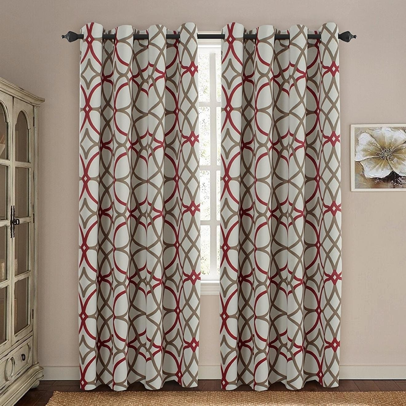 Premier Home Decor Inc Primebeau Geometric Pattern Blackout Curtain Pair 2 Pack Intended For Primebeau Geometric Pattern Blackout Curtain Pairs (View 2 of 20)
