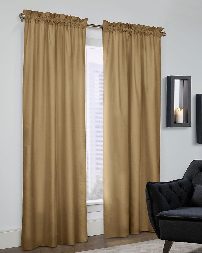 Prescott Rod Pocket Curtain Panels (pair) In Thermal Rod Pocket Blackout Curtain Panel Pairs (View 20 of 30)