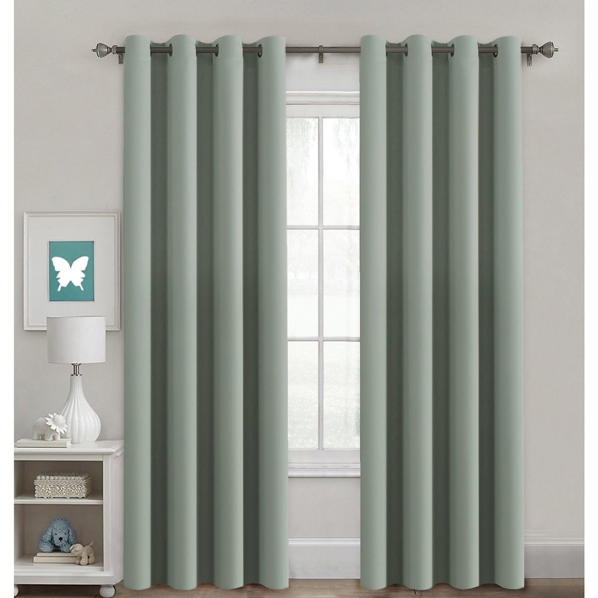 Primebeau Blackout Thermal Insulated Grommet Top Solid Curtain Panel Pair Within Solid Insulated Thermal Blackout Curtain Panel Pairs (View 20 of 30)