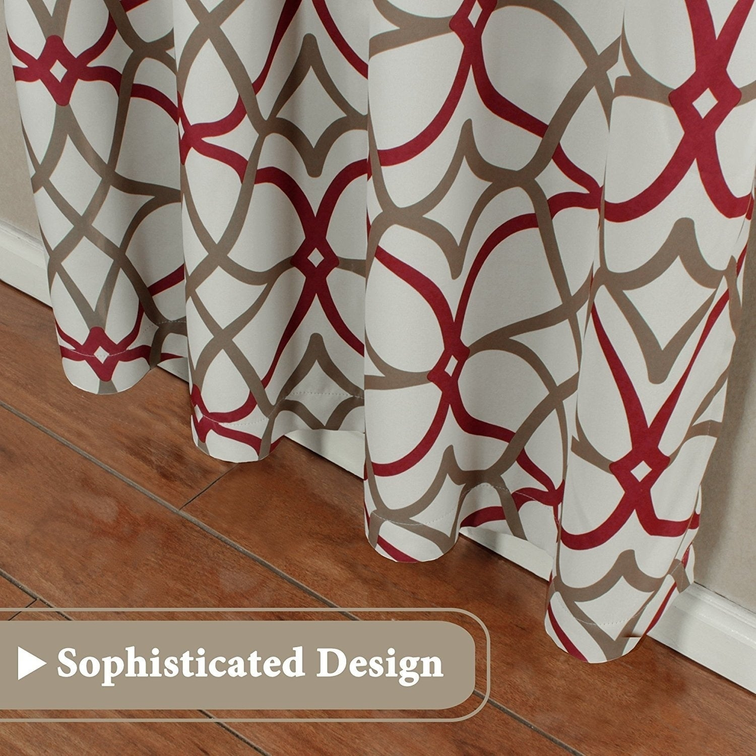 Primebeau Geometric Pattern Blackout Curtain Pair 2 Pack In Primebeau Geometric Pattern Blackout Curtain Pairs (View 6 of 20)
