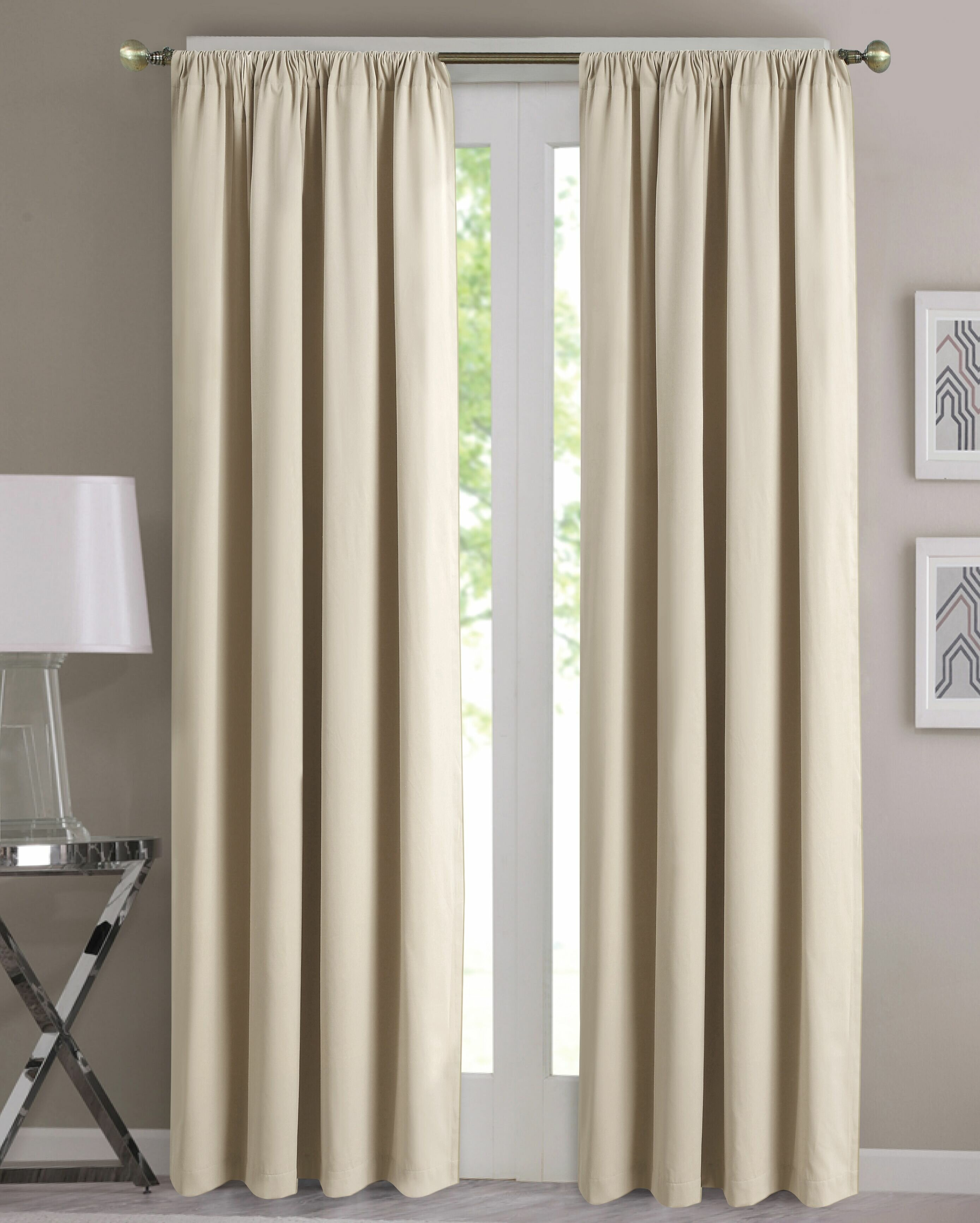 Prine Solid Room Darkening Thermal Single Curtain Panel With Regard To Single Curtain Panels (View 3 of 31)