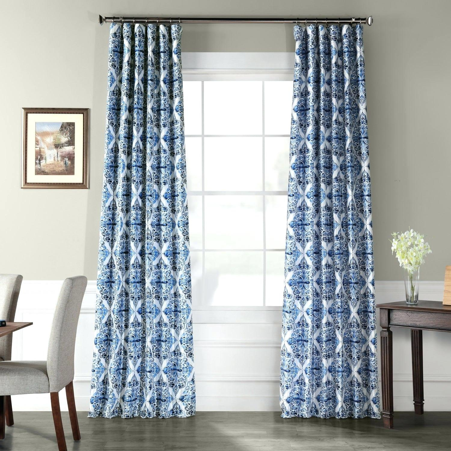 Printed Blackout Curtains – Labrit (View 12 of 20)