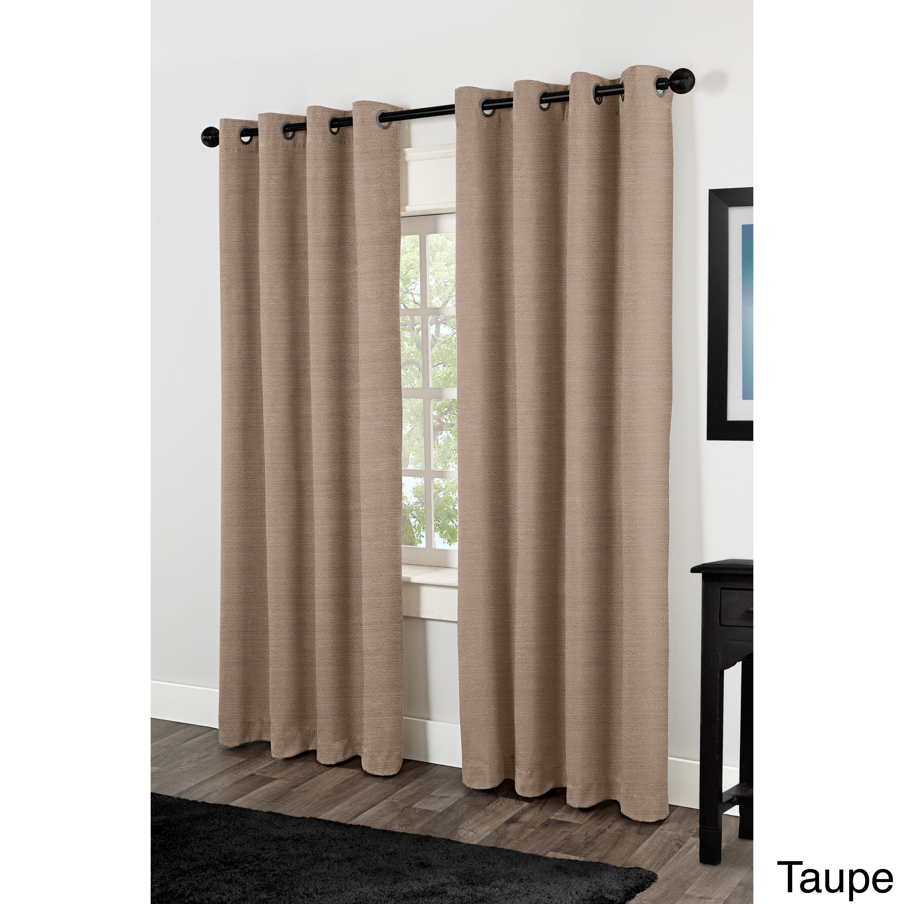 """Raw Silk Thermal Insulated Grommet Top Curtain Panel Pair 96"""" In Off White (as Is Item) Within Raw Silk Thermal Insulated Grommet Top Curtain Panel Pairs (View 5 of 20)"""