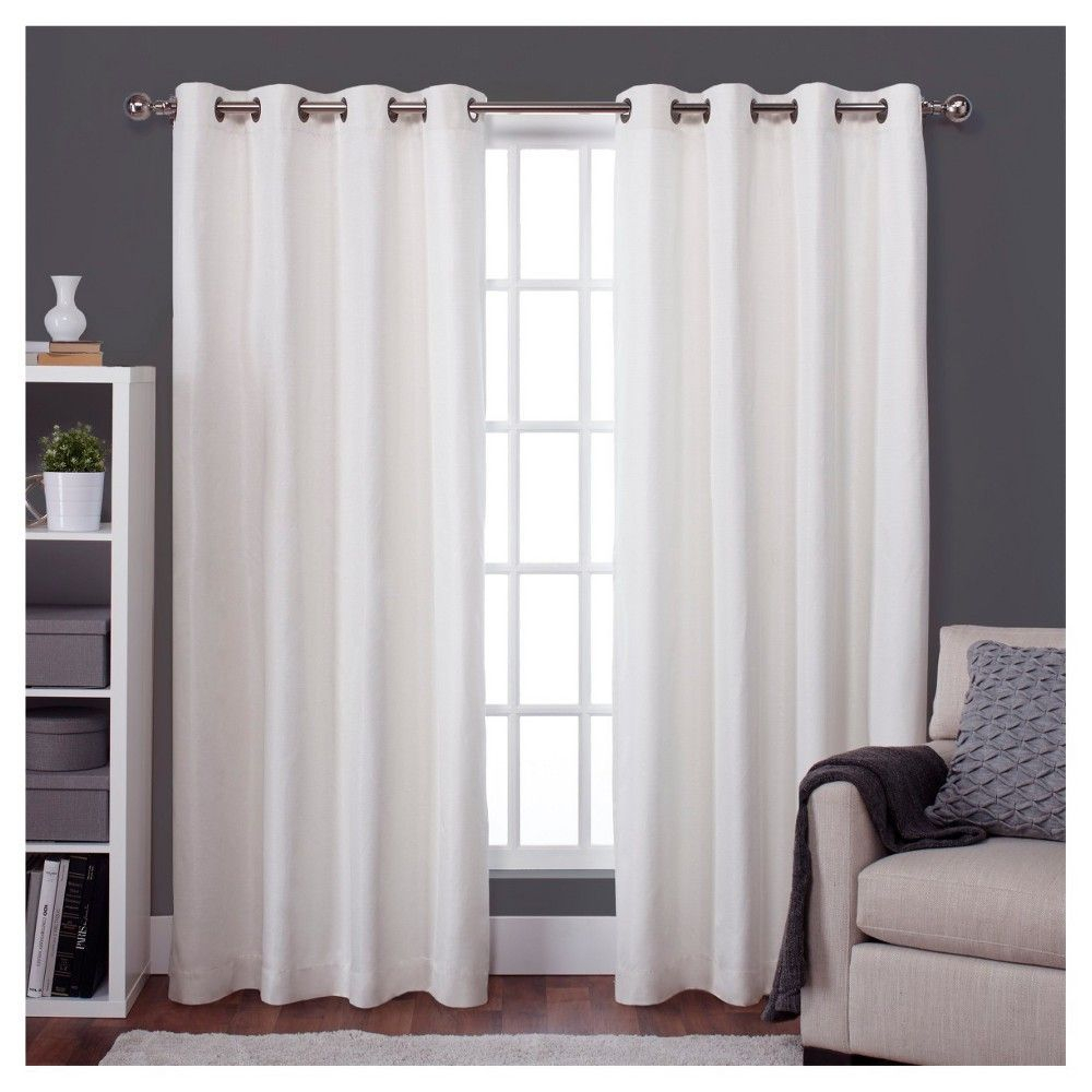 Raw Silk Thermal Room Darkening Window Curtain Panel Pair In Raw Silk Thermal Insulated Grommet Top Curtain Panel Pairs (View 11 of 20)