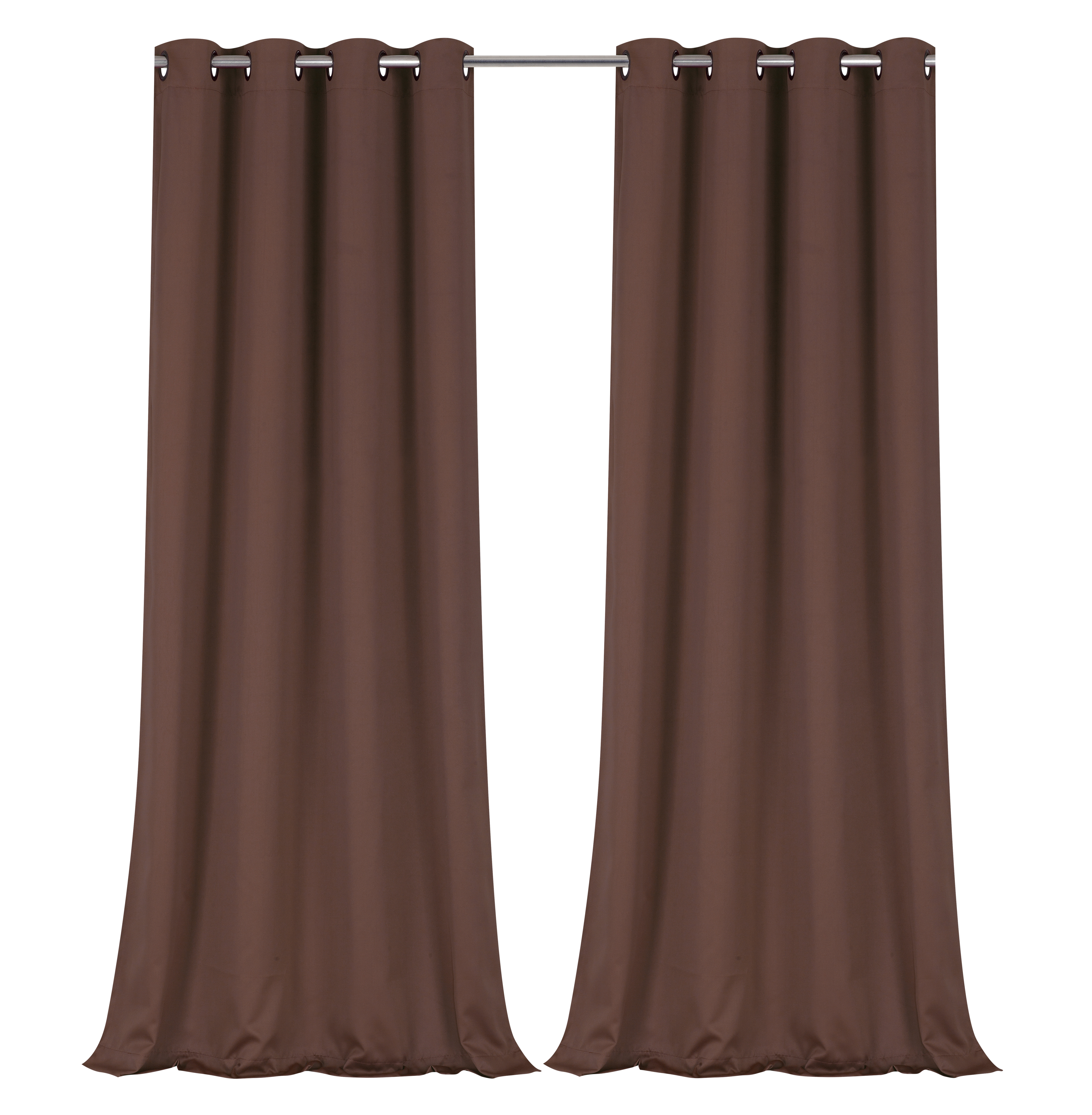 Regal Home Collections 100% Blackout Thermal Hotel Grommet Top Curtain Panel Pair – Brown, 95 In (View 15 of 30)