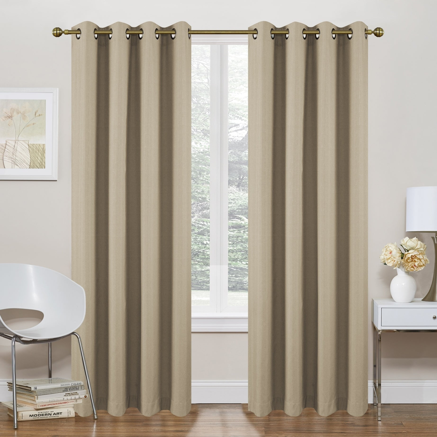 "Regal Home Collections Morrow Solid Thermal Blackout 84 Inch Grommet Top Curtain Panel Pair – 54"" W X 84"" L For Solid Grommet Top Curtain Panel Pairs (View 23 of 30)"