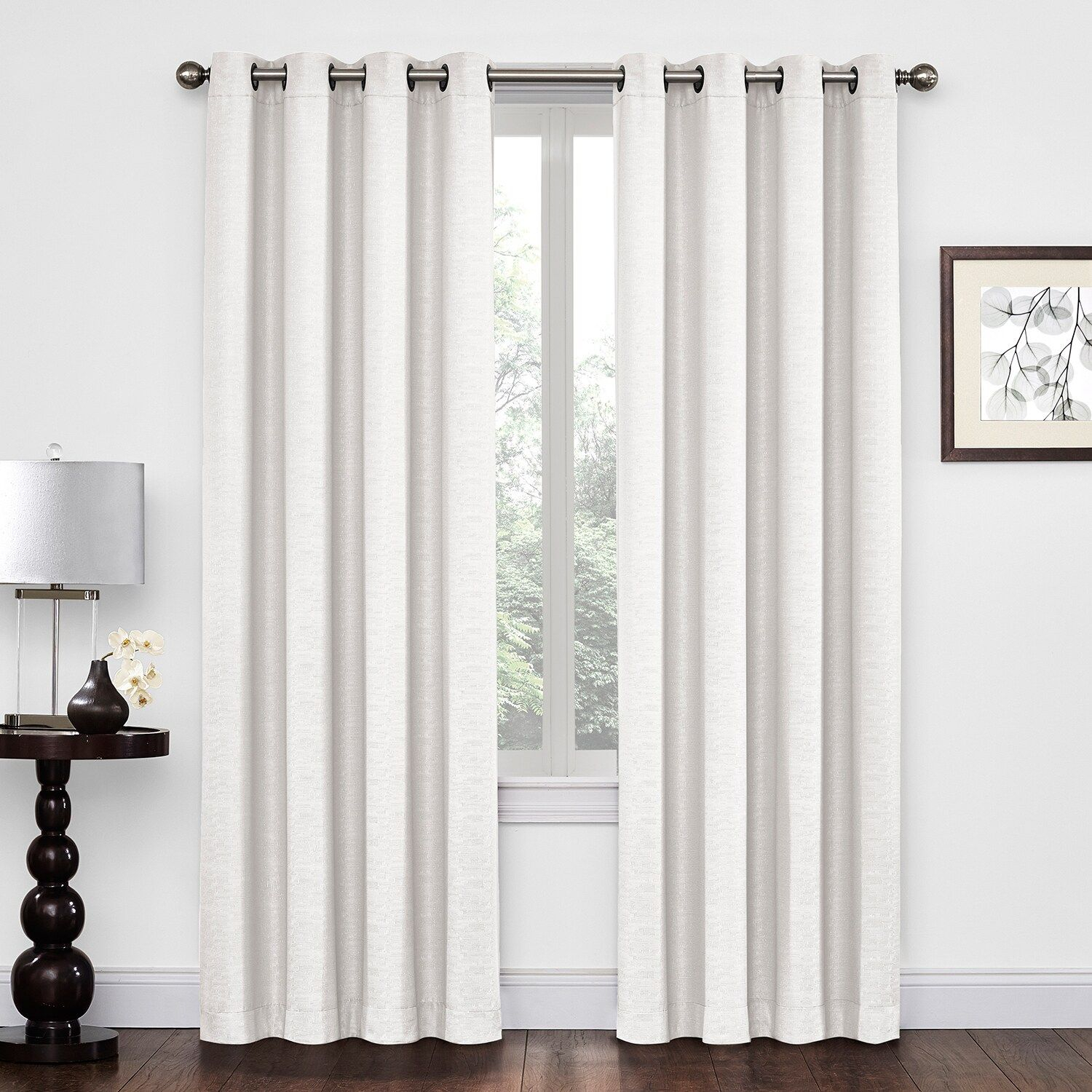 Regent Court 1 Panel Textured Solid Window Curtain With Regard To Ladonna Rod Pocket Solid Semi Sheer Window Curtain Panels (View 20 of 20)