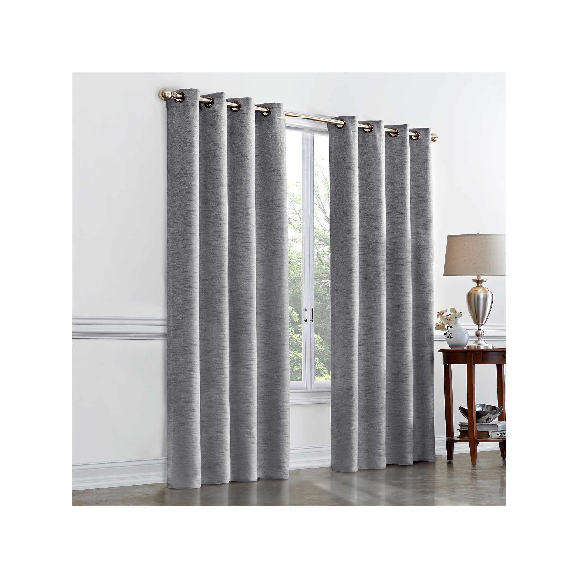 Regent Court Hayden Room Darkening Curtain, Grey | Products Regarding Hayden Rod Pocket Blackout Panels (View 19 of 20)
