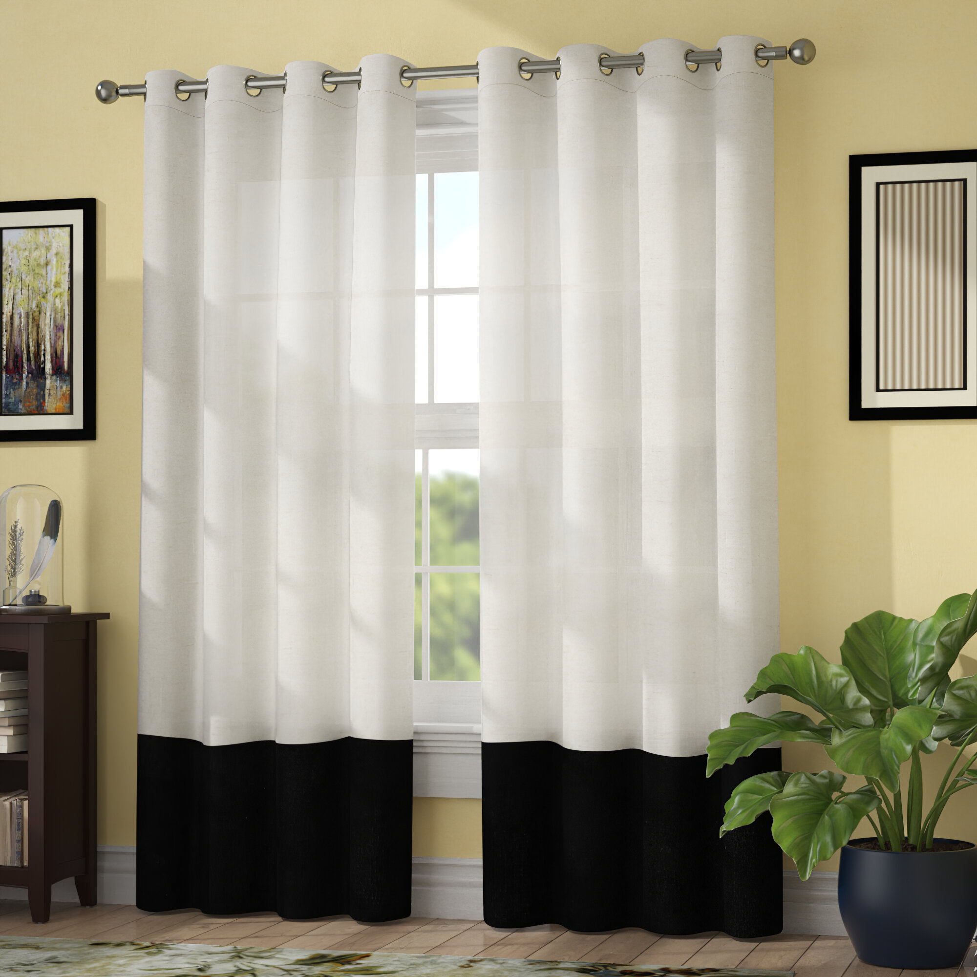 Remy Light Filtering Single Grommet Curtain Panel With Inez Patio Door Window Curtain Panels (View 15 of 20)