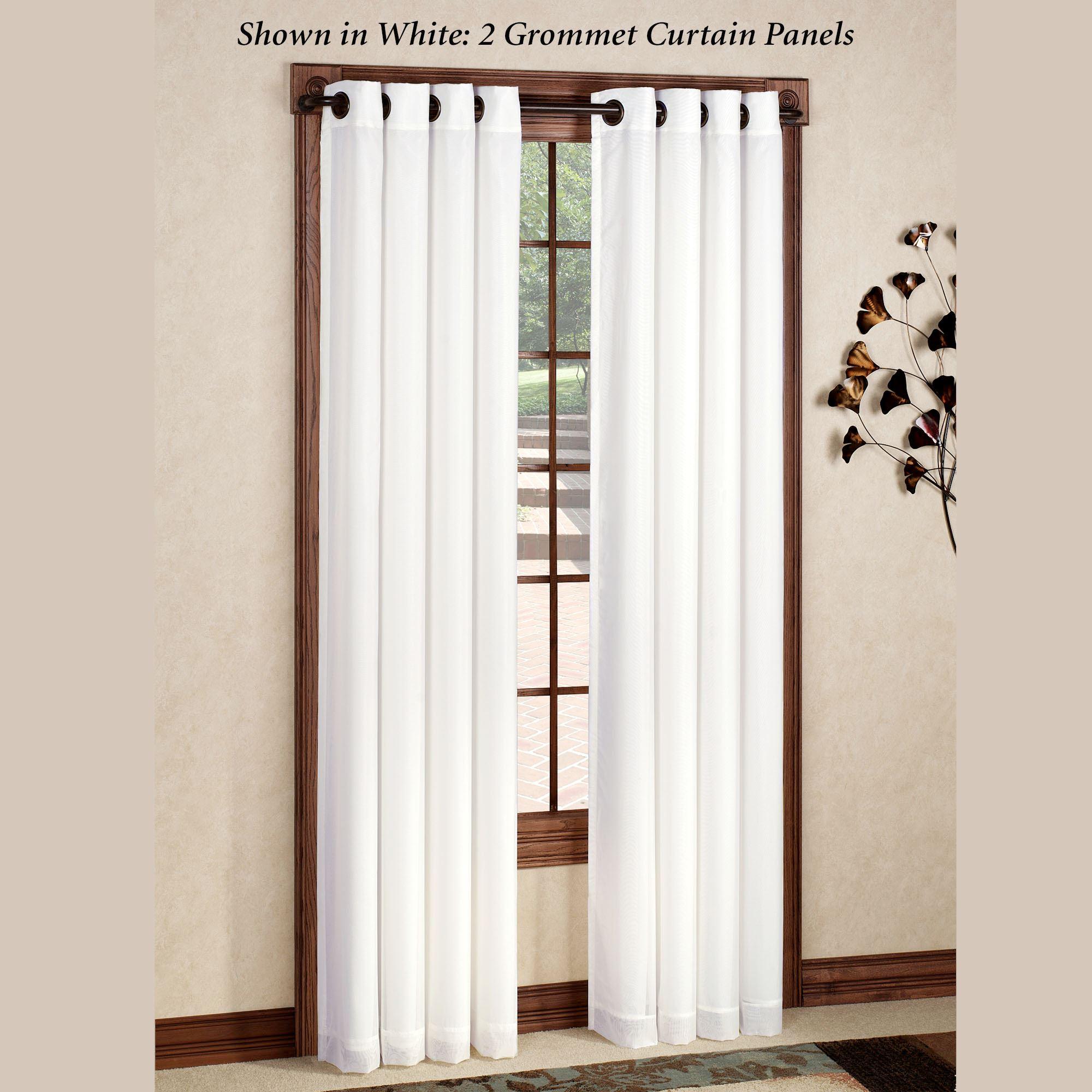 Rhapsody Thermavoile(Tm) Grommet Curtain Panels with regard to Grommet Curtain Panels (Image 16 of 20)