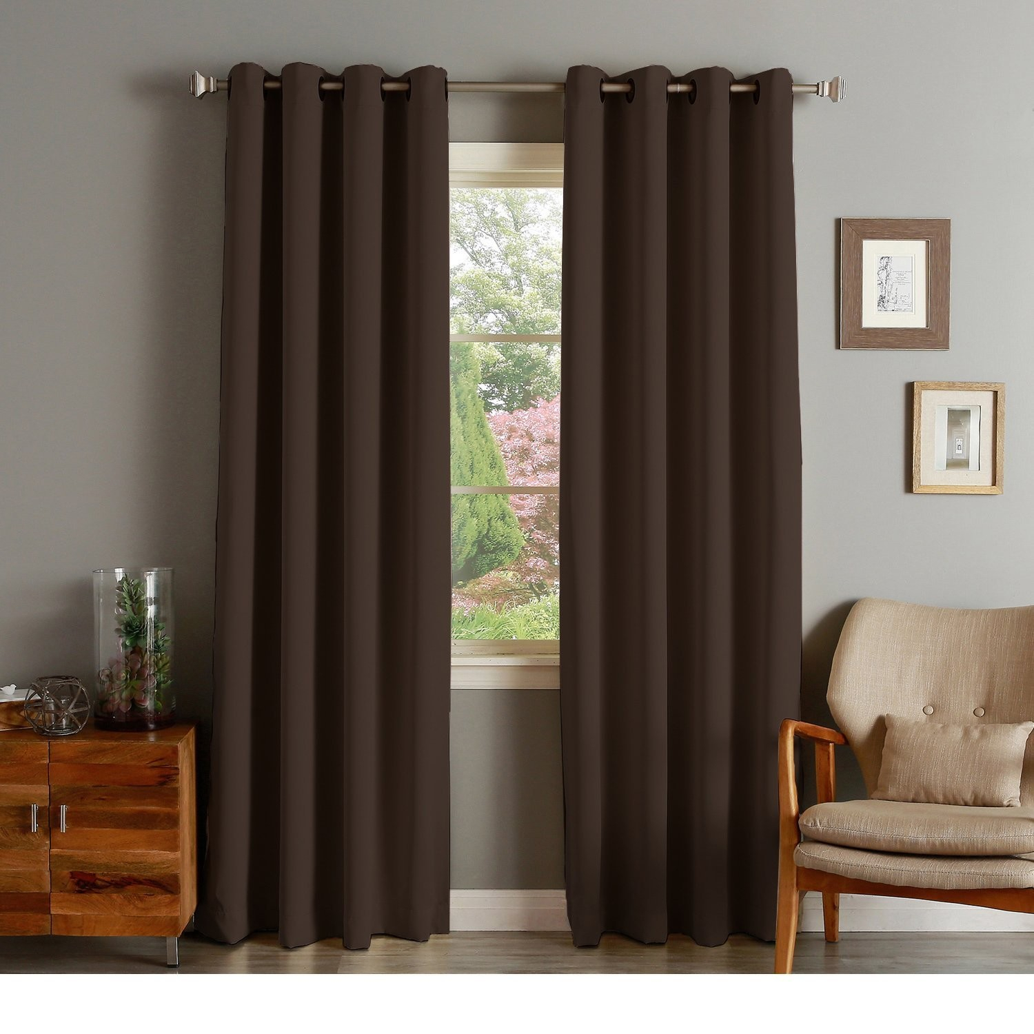 Rhf Blackout Thermal Insulated Curtain – Antique Bronze Inside Antique Silver Grommet Top Thermal Insulated Blackout Curtain Panel Pairs (View 8 of 20)