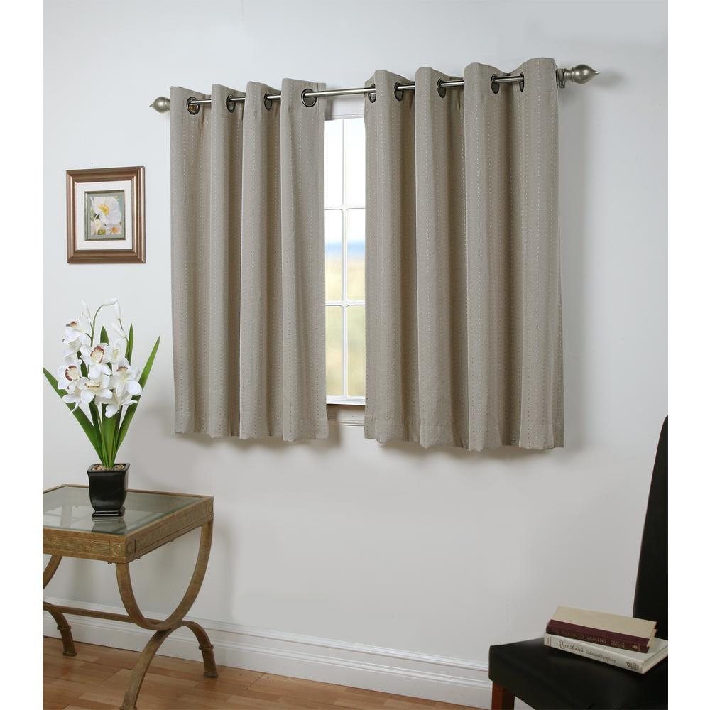 Ricardo Trading Grand Pointe 54 In. W X 45 In. L Polyester Blackout Short  Length Window Panel In Smoke In Ultimate Blackout Short Length Grommet Curtain Panels (Photo 6 of 30)
