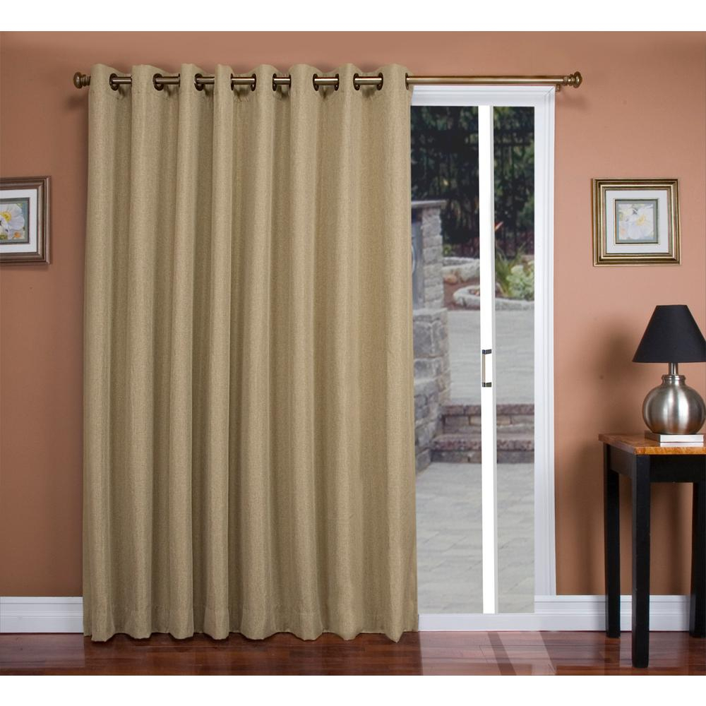 Ricardo Trading Tacoma 106 In. W X 84 In. L Polyester Double Blackout  Grommet Patio Panel In Driftwood in Tacoma Double-Blackout Grommet Curtain Panels (Image 13 of 30)
